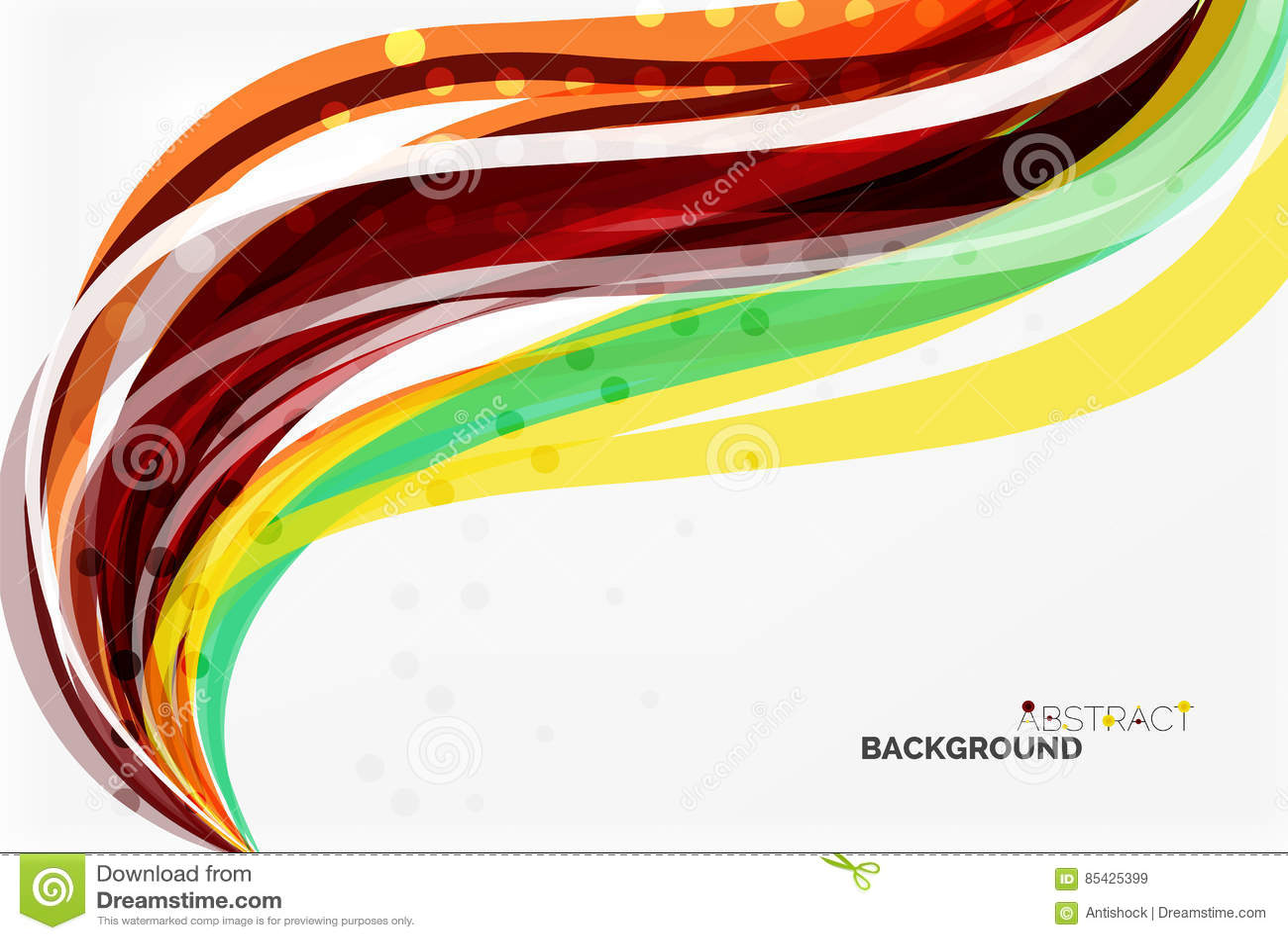 Красочные нашивки и линии волны