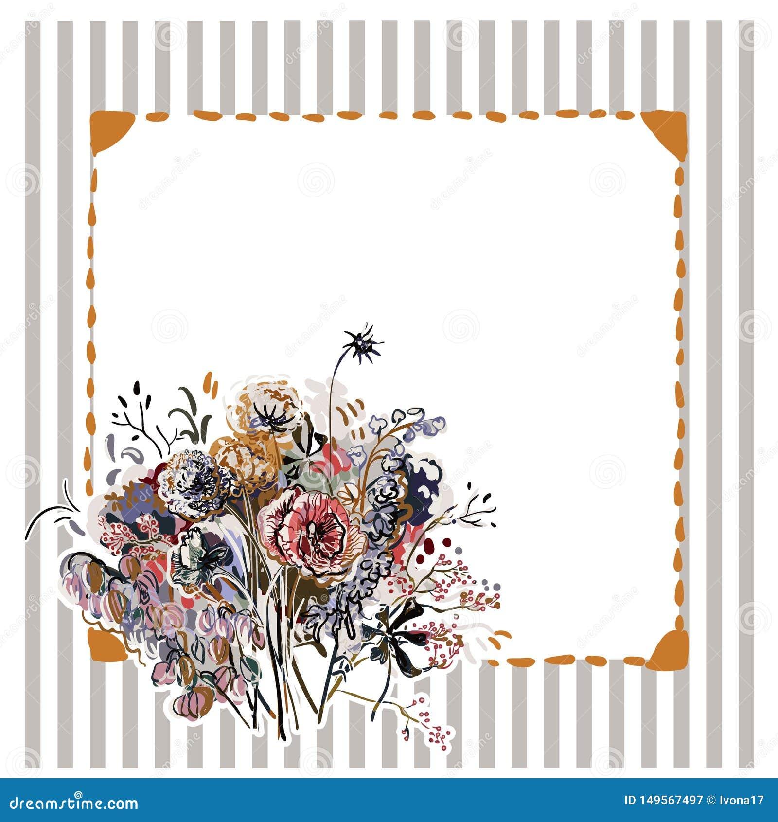 Красочные обои украшения картины искусства цветка дизайна вектора
