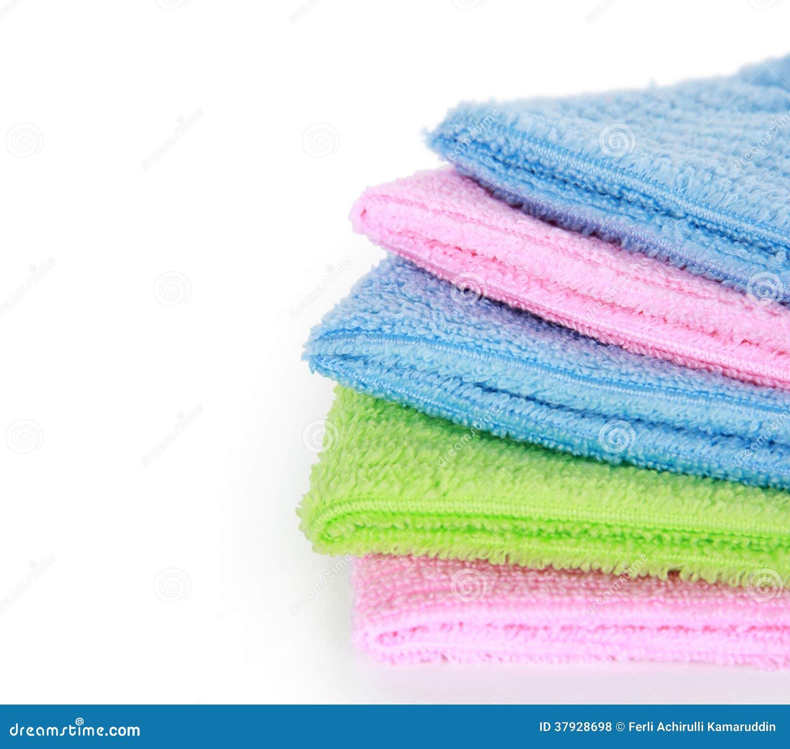 Красочные полотенца чистки microfiber