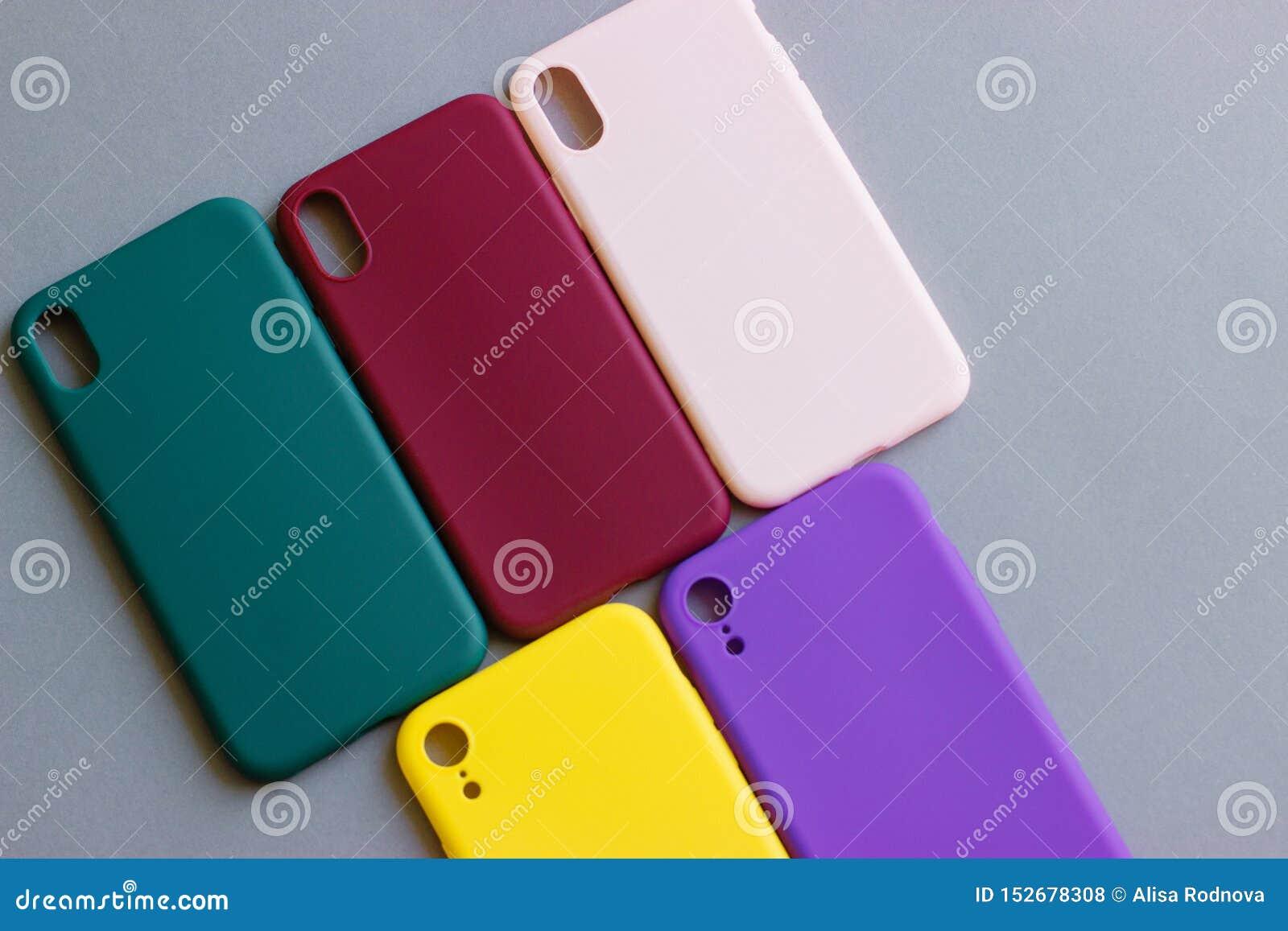 Красочные случаи силикона для вашего смартфона