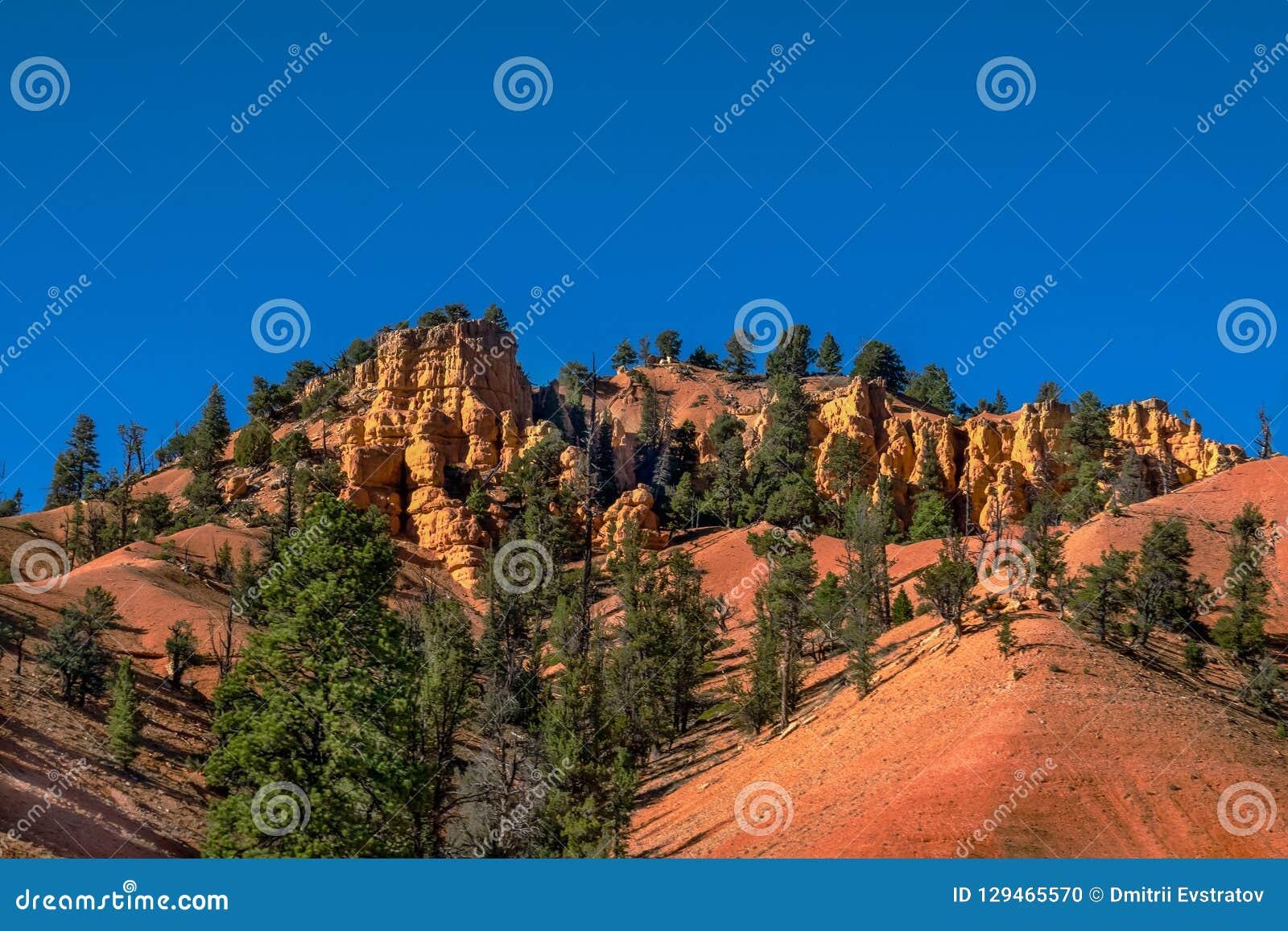 Красочные утесы и деревья в Юте, США