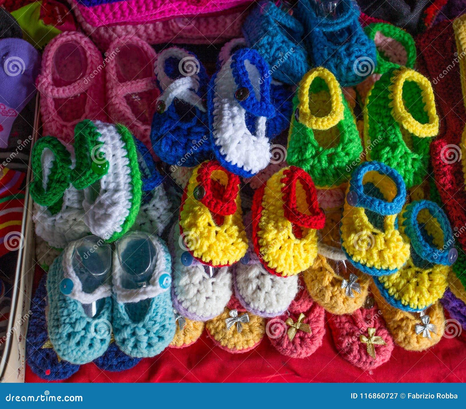 Красочные шерстяные ботинки для новорожденного ребенка