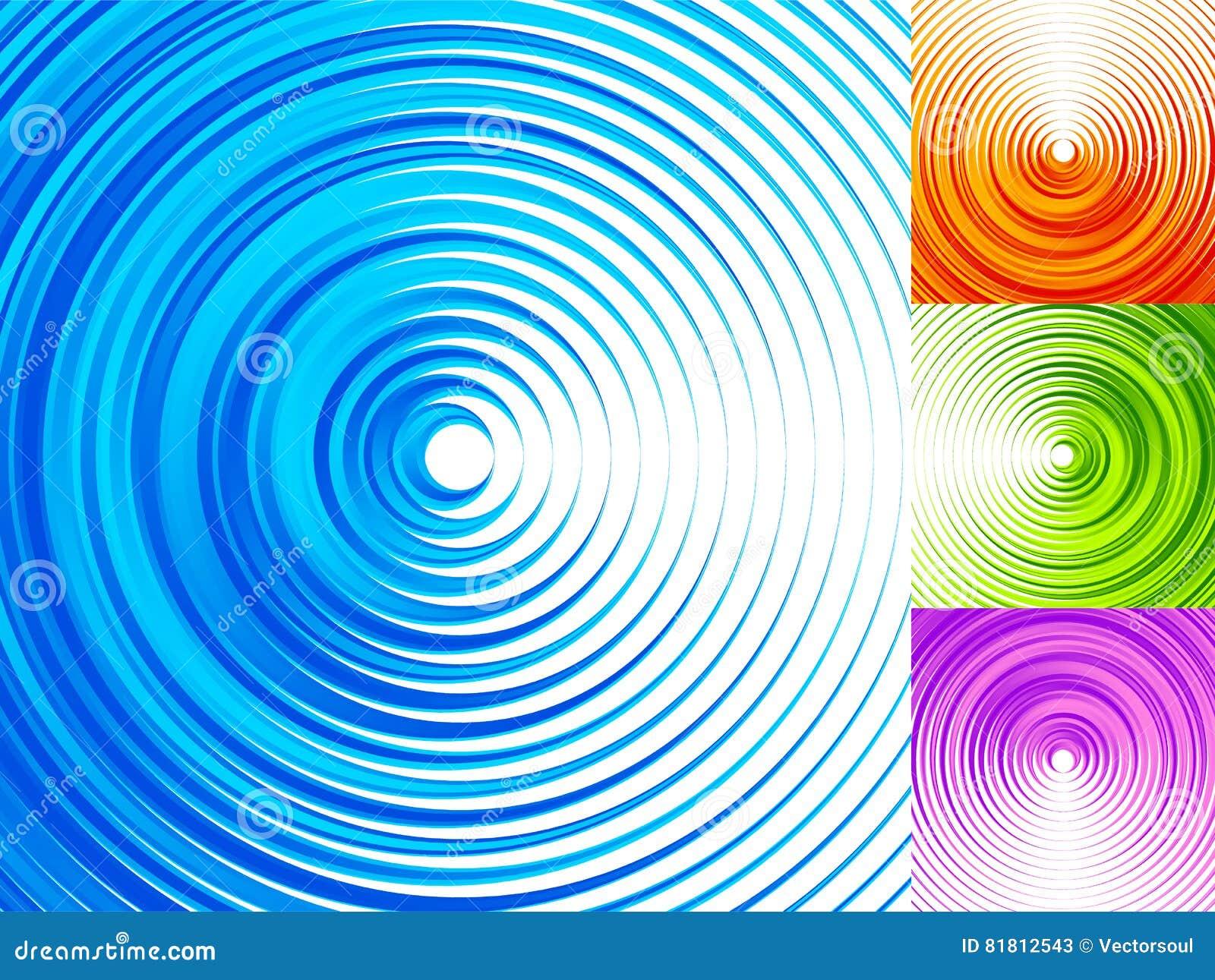 Красочные элементы концентрического круга 4 яркое, яркий, живой co