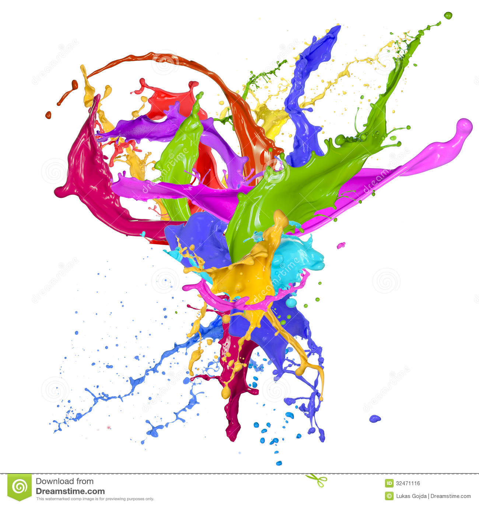 Красочный брызгать краски