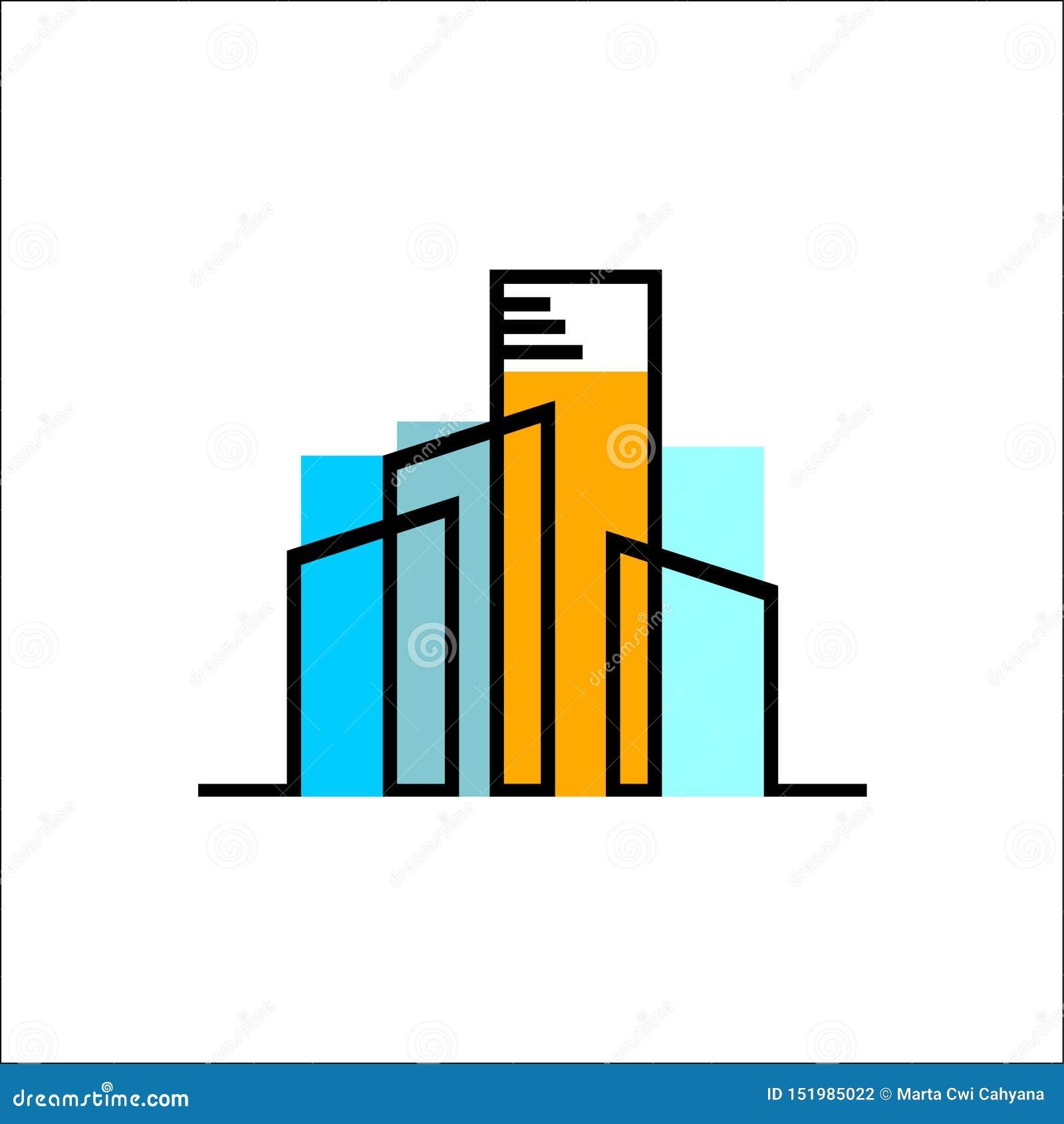 Красочный вектор логотипа имущественного агентства недвижимости