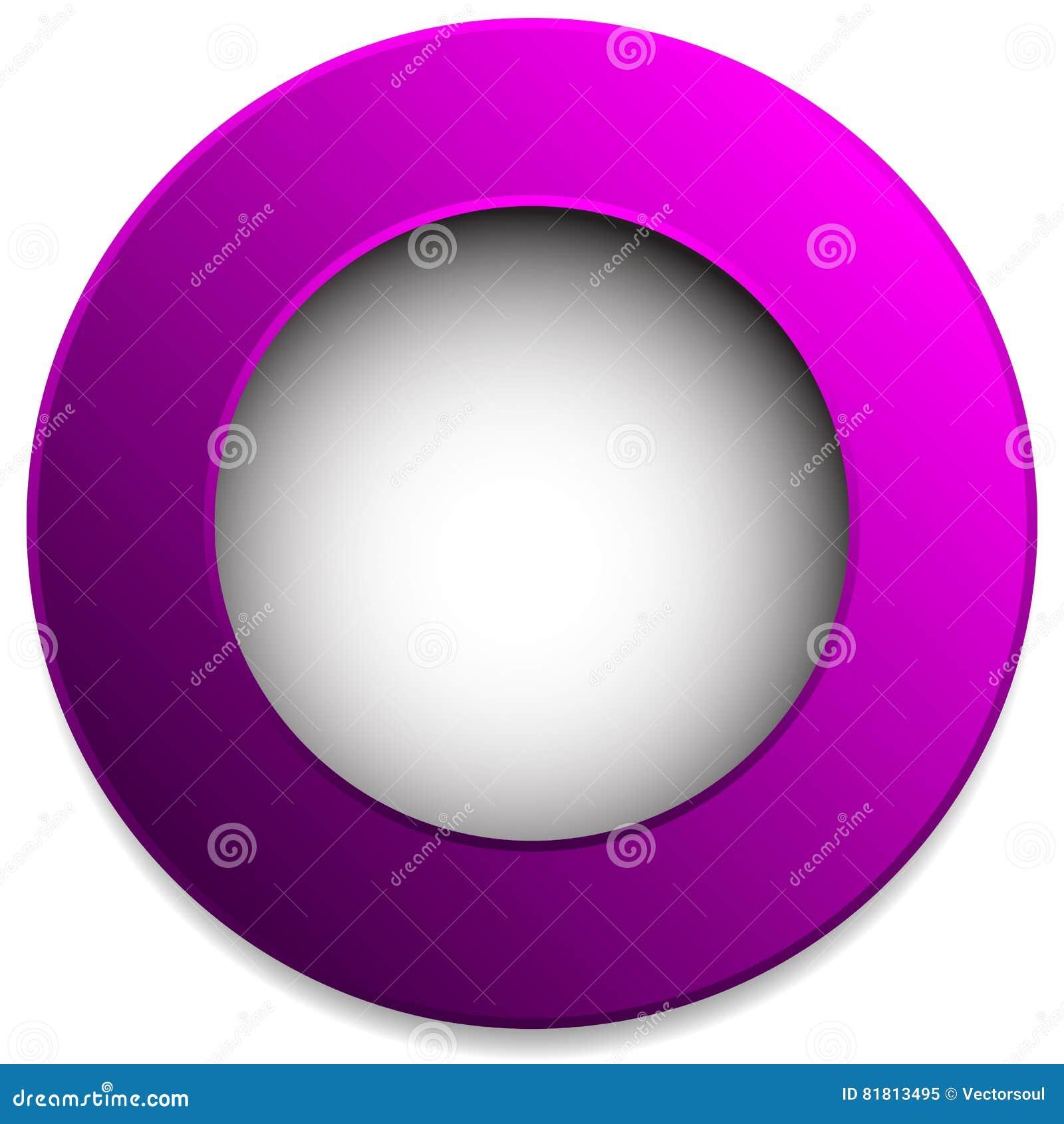 Красочный значок круга, кнопка, штырь, элемент ярлыка Пустой, пустой