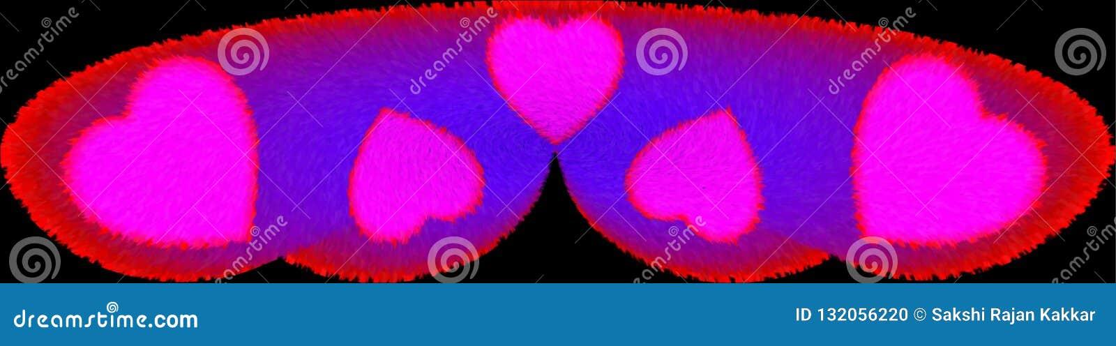 Красочный меховой и освещенный компьютер подушки медового месяца произвел дизайн изображения иллюстрации