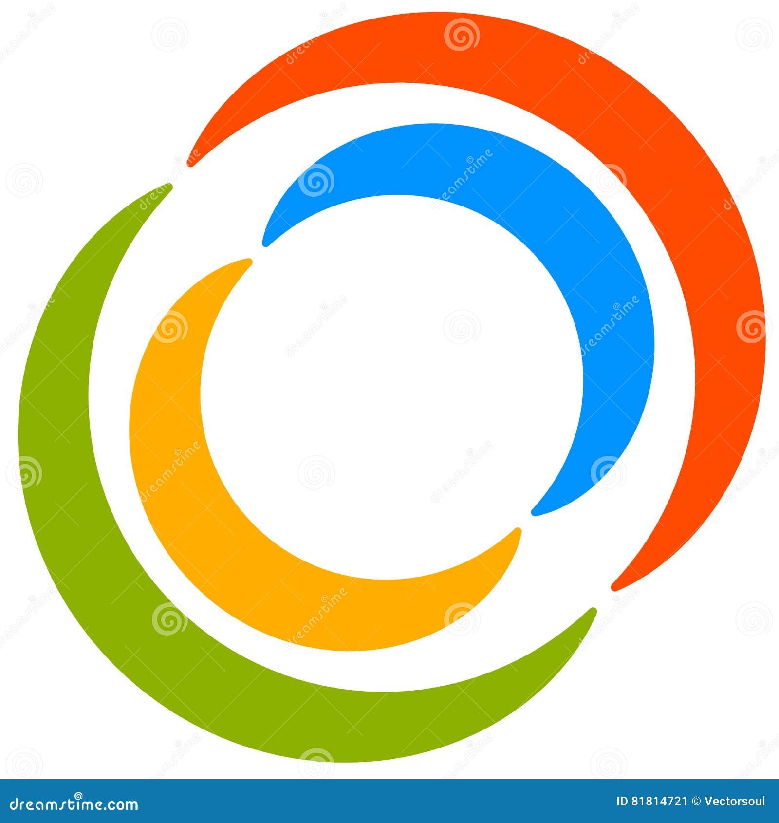Красочный мотив круга с двухраздельными кругами Родовой циркуляр ic