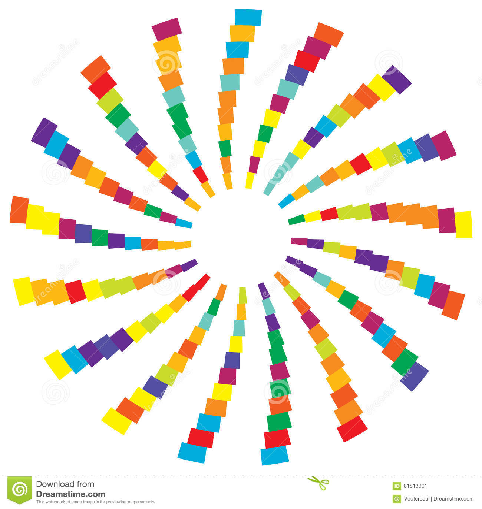 Красочный радиальный круговой элемент Multicolor геометрический круг