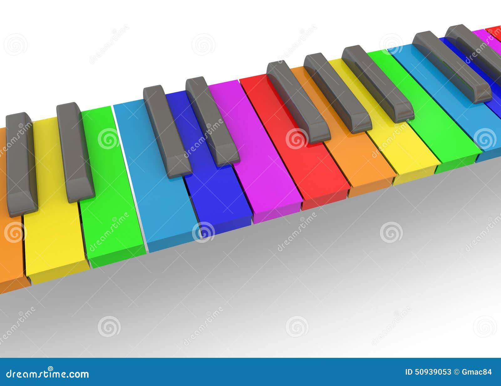 Красочный рояль - 3D