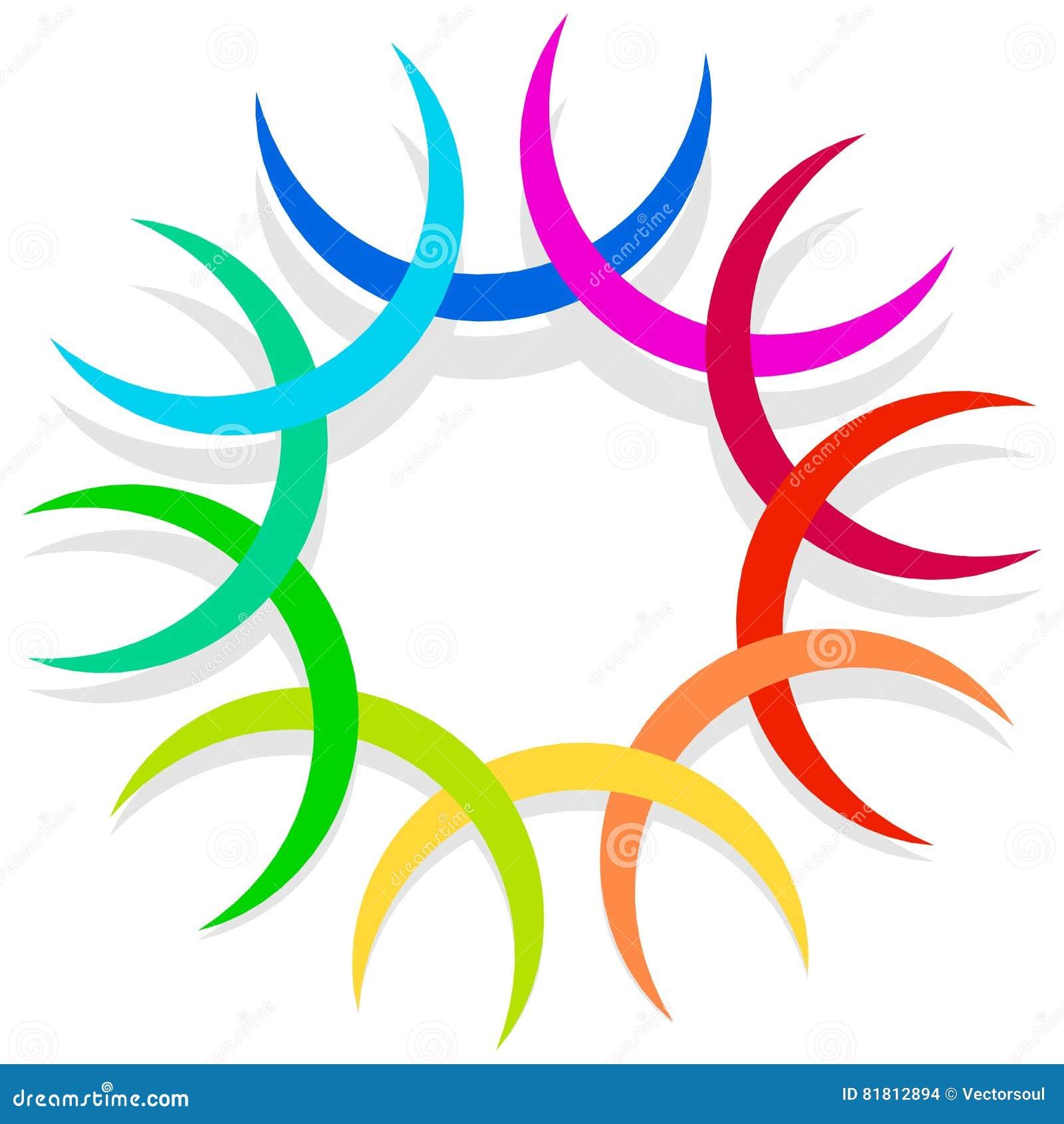 Красочный спирально конструируйте элемент, мотив конспекта геометрический, symb
