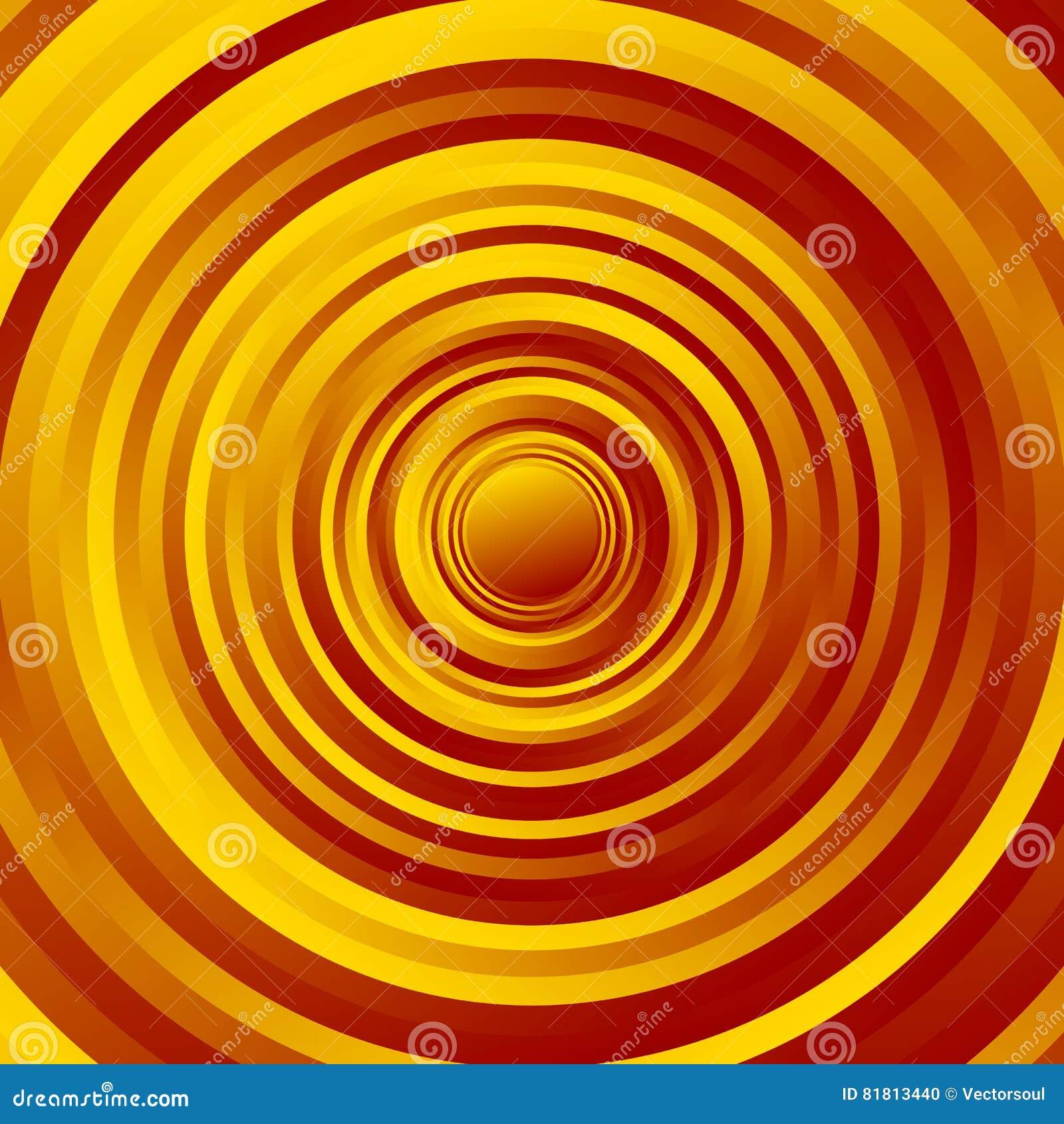 Красочный спирально объезжайте картину Вращая круги с градиентом