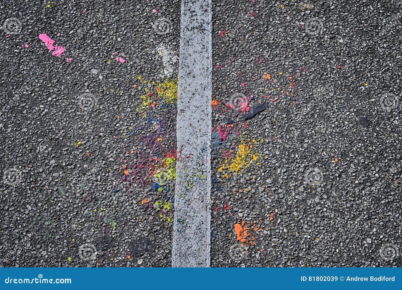 Красочный тротуар