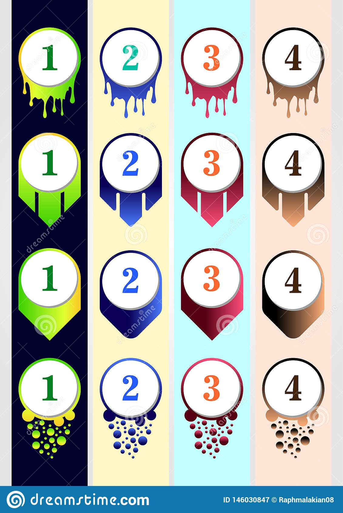 Красочный шаблон собрания пули для содержания дела содержания infographic