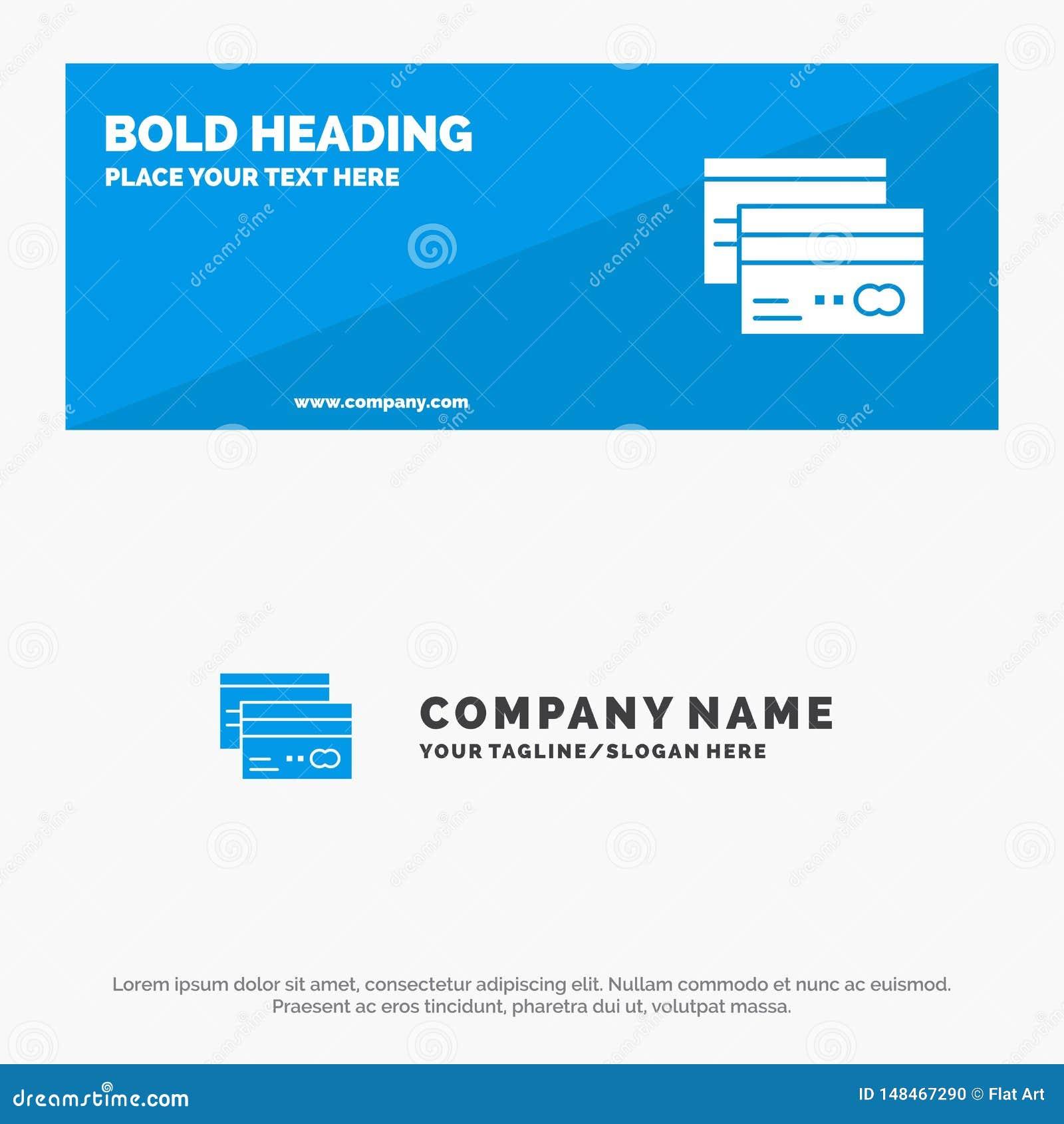 Кредитная карточка, банк, карта, карты, кредит, финансы, знамя вебсайта значка денег твердые и шаблон логотипа дела