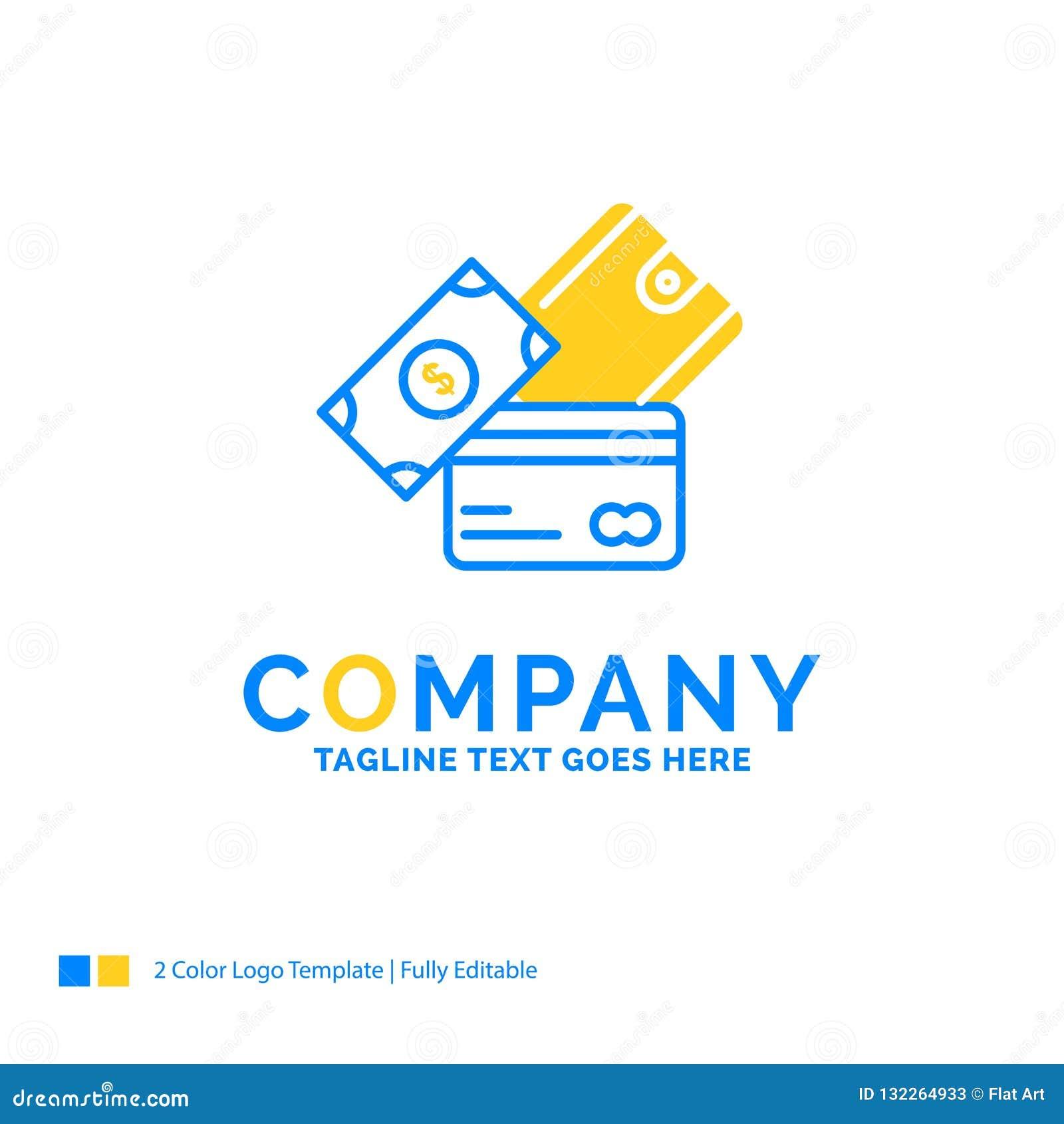 кредитная карточка, деньги, валюта, доллар, дело бумажника голубое желтое