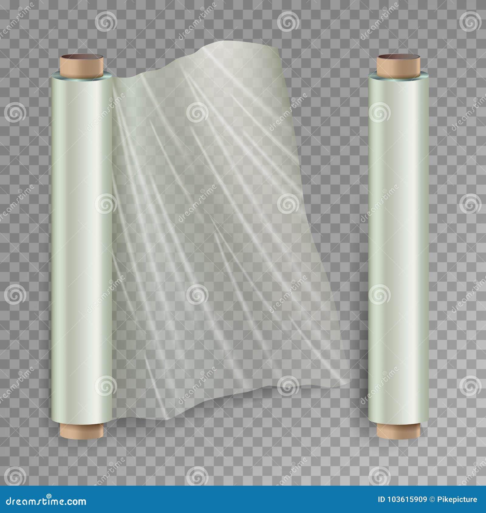 Крен оборачивать вектор фильма простирания Раскрытая и закрытая упаковка полимера Целлофан, пластичный обруч На