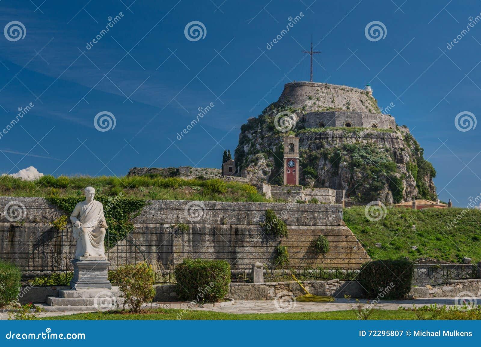 Download Крепость в городе Корфу, Греции Стоковое Изображение - изображение насчитывающей известно, место: 72295807