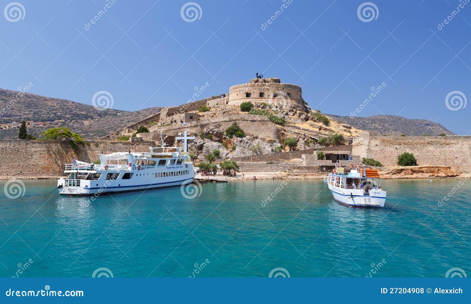 Крепость Греция Крита Spinalonga