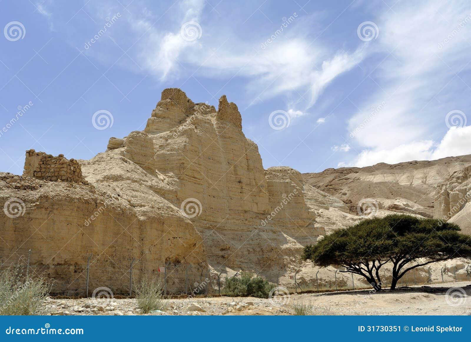 Крепость Zohar в пустыне Иудеи.