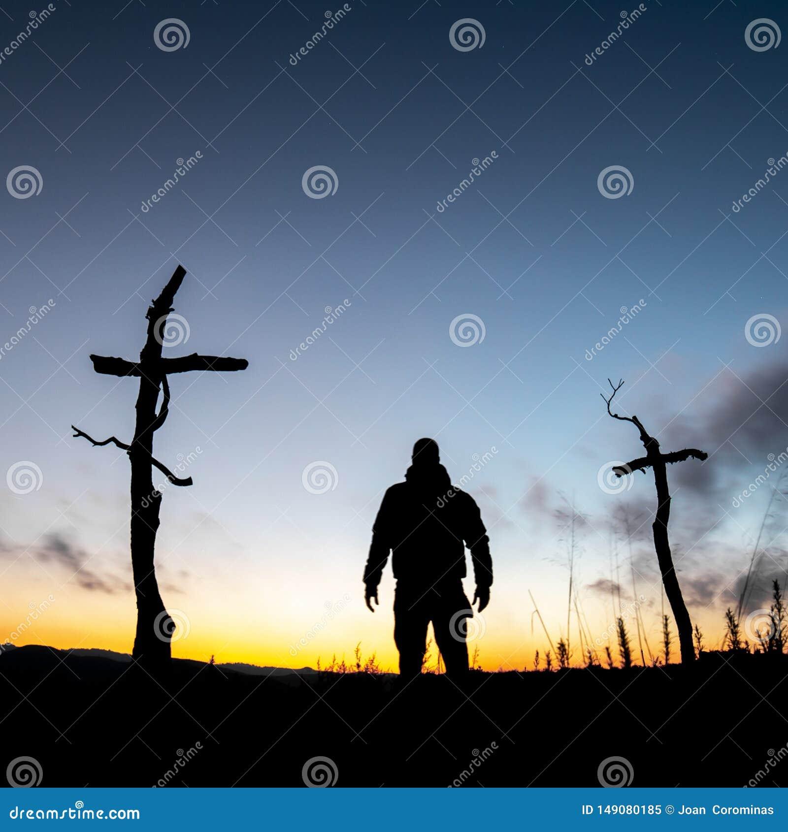 Кресты в лесе
