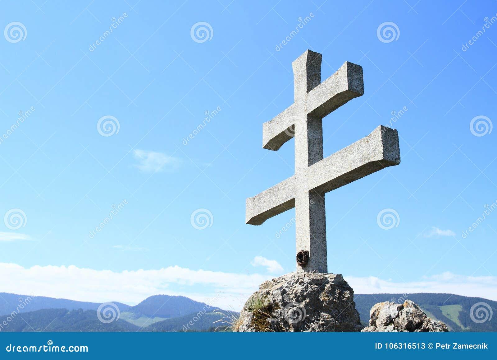 Крест словака на Rockery Liptovsky Hradok
