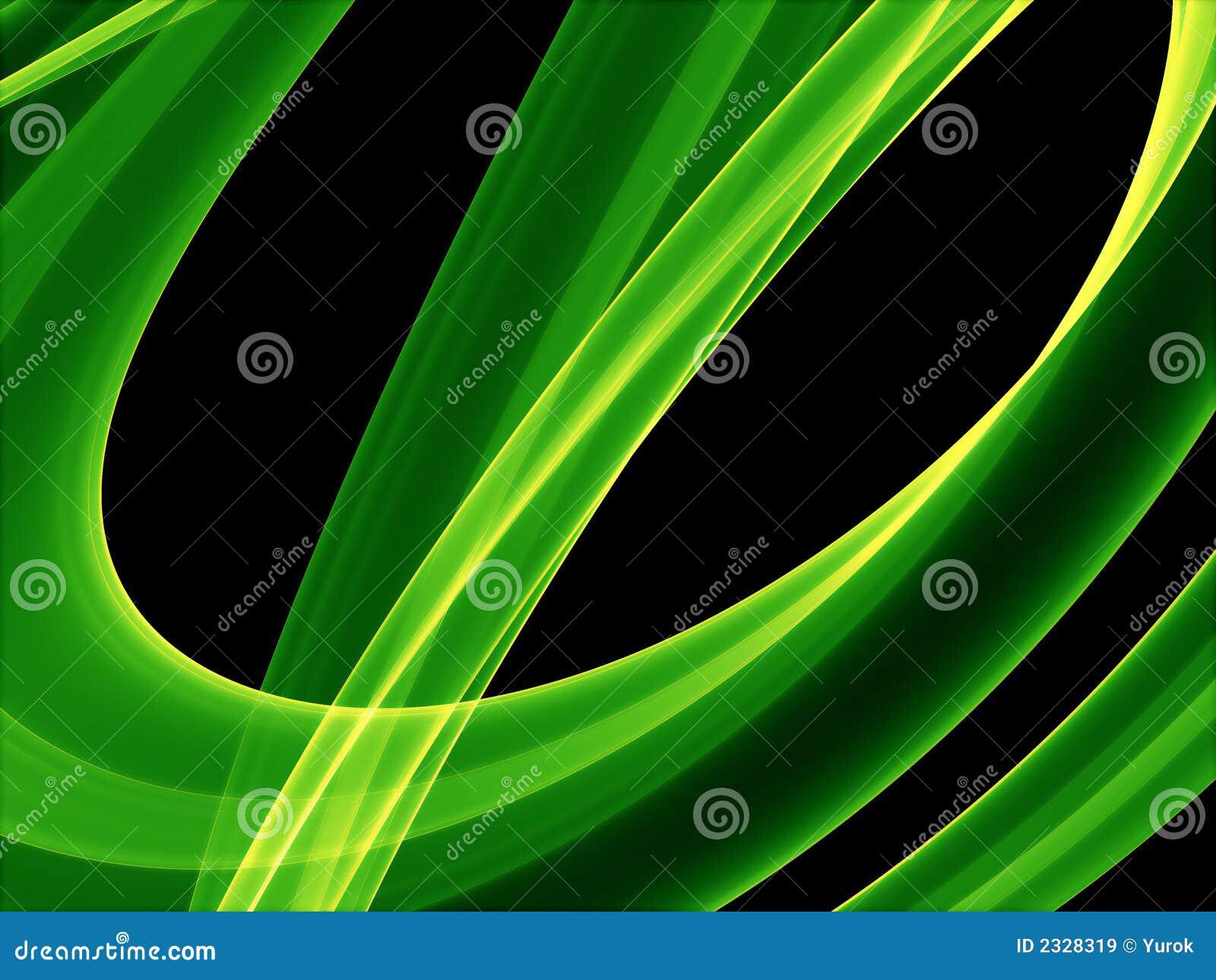 кривые накаляя зелена