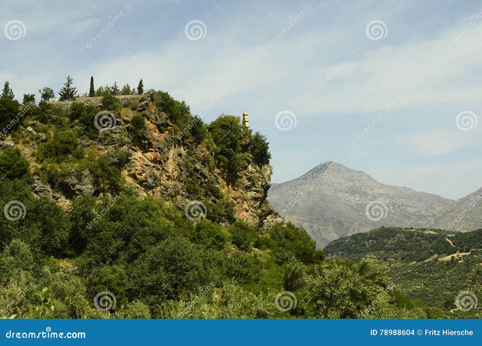 Крит Греция приземлился продолжающееся солнце лучей плоскости