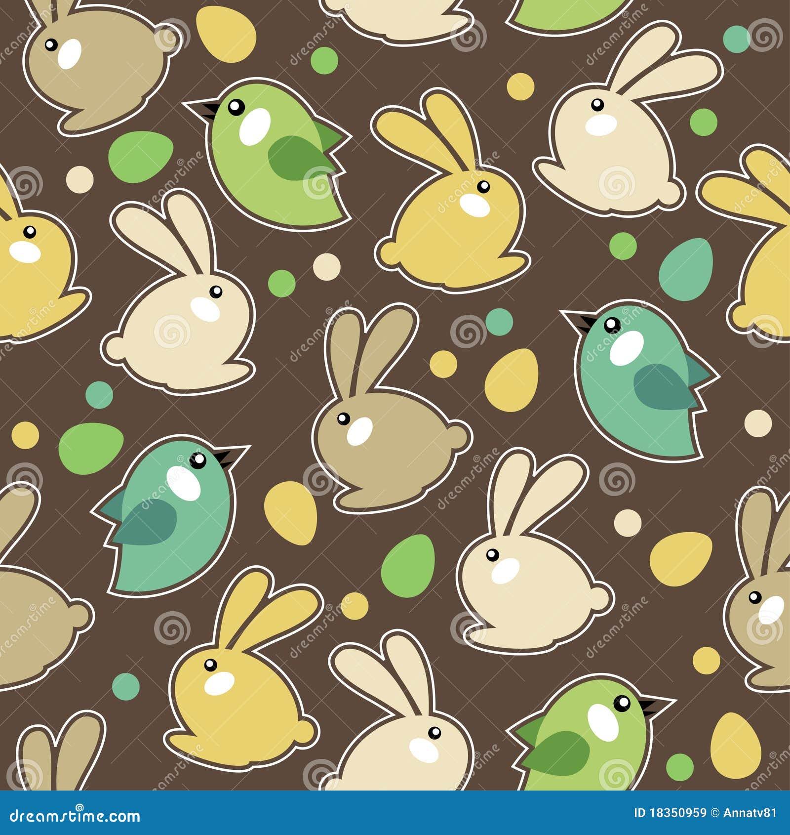 кролики картины пасхи безшовные