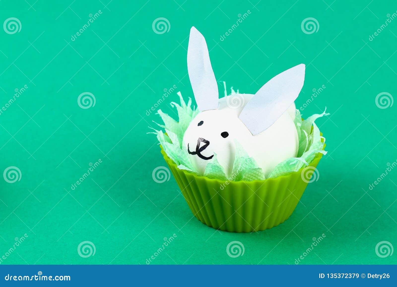 Кролик Diy от яя для пасхи