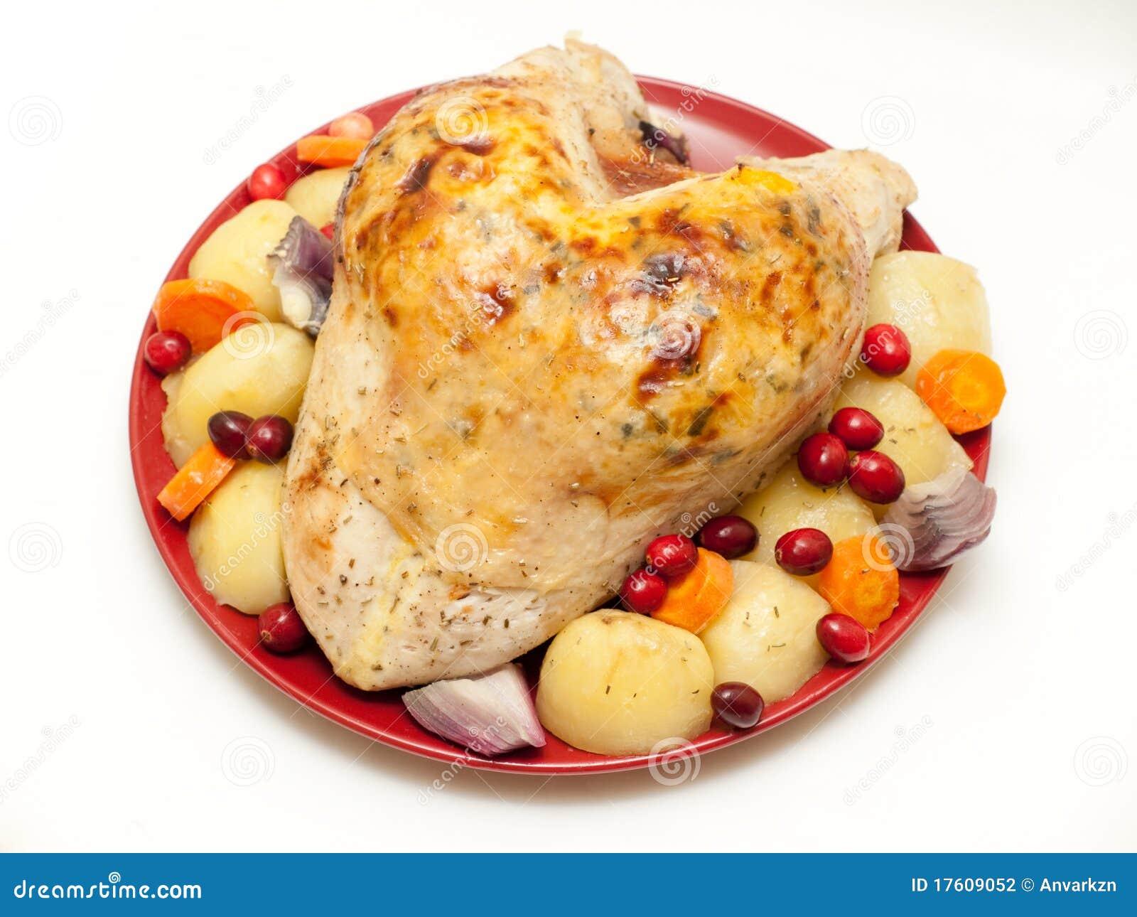 крона заполняя овощи индюка