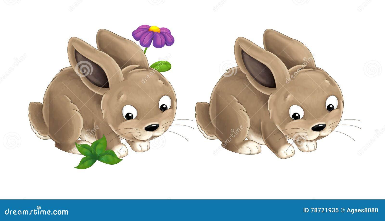Кролик шаржа счастливый - покрашенный стиль хороший для сказки