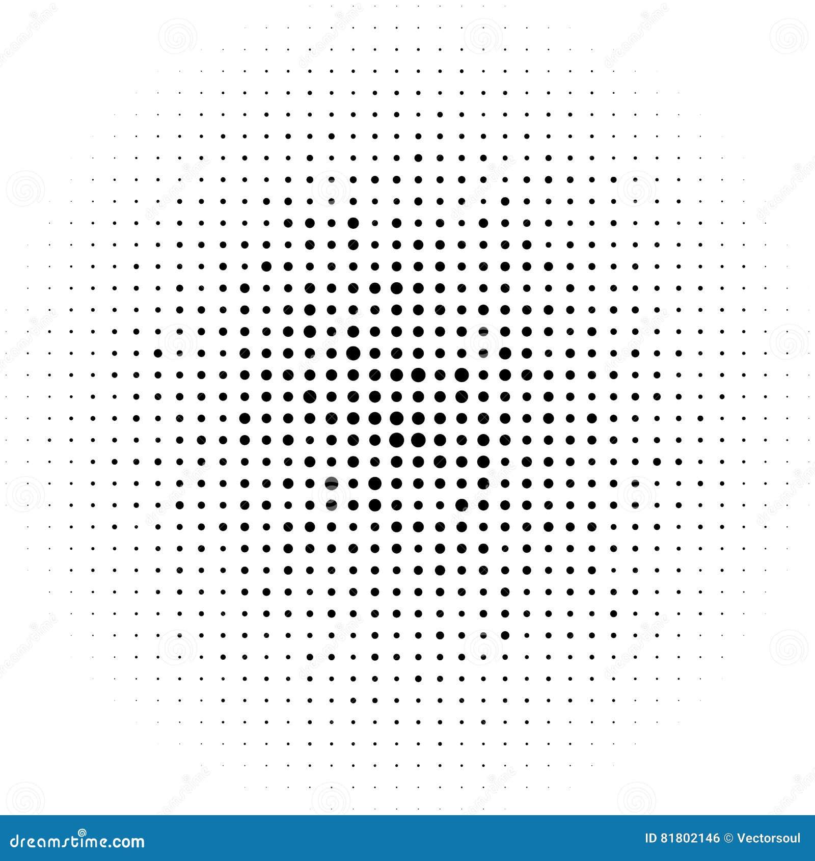 Круги полутонового изображения, картина точек полутонового изображения Monochrome полутоновое изображение