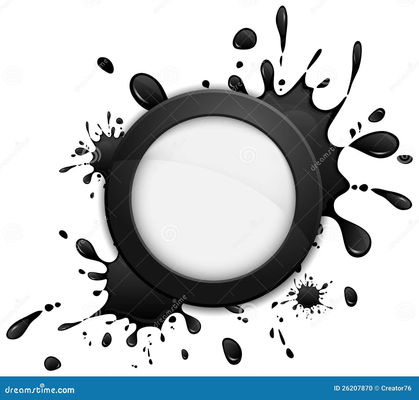 Круглая икона inkblot