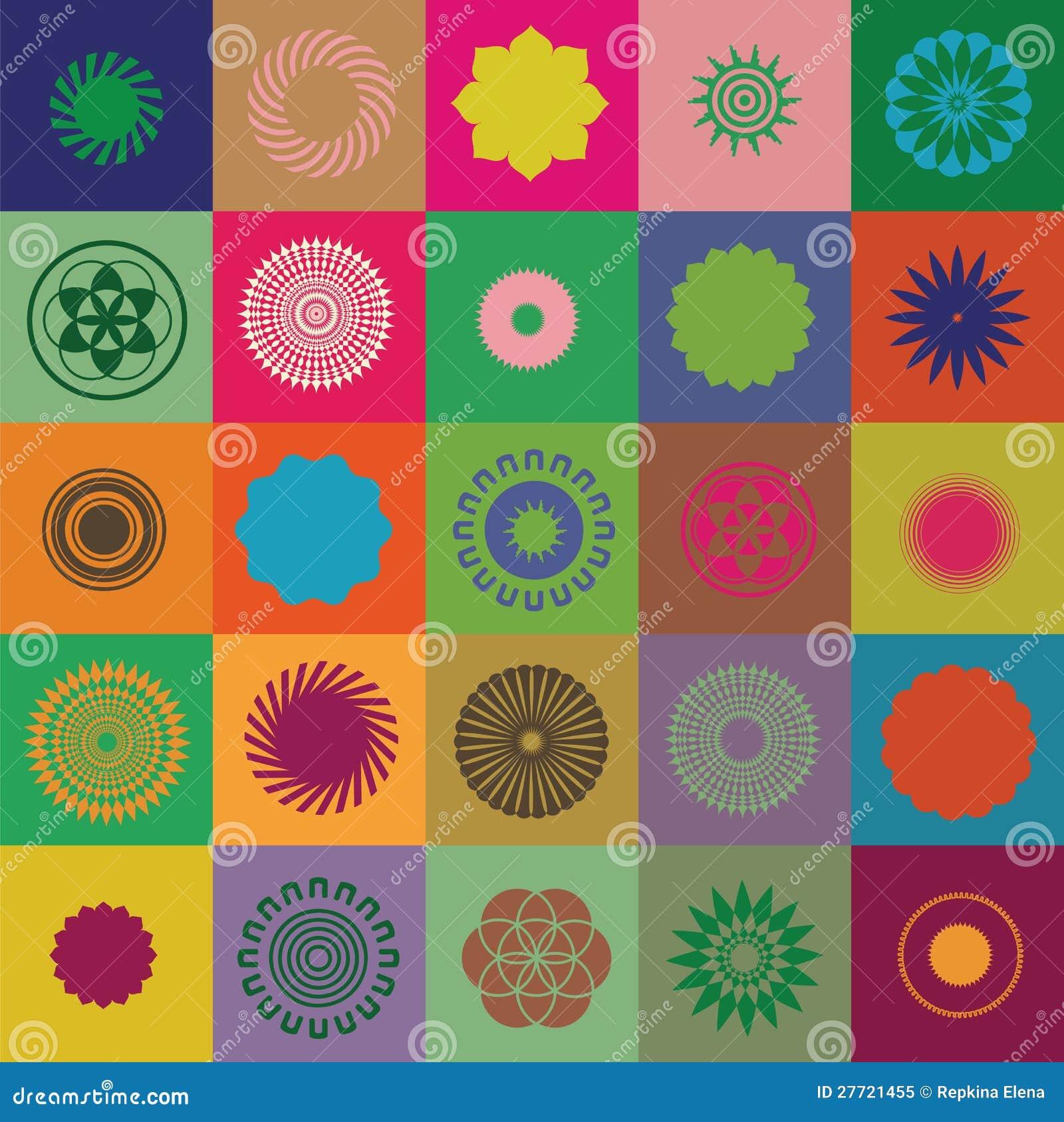 Круглые элементы и символы