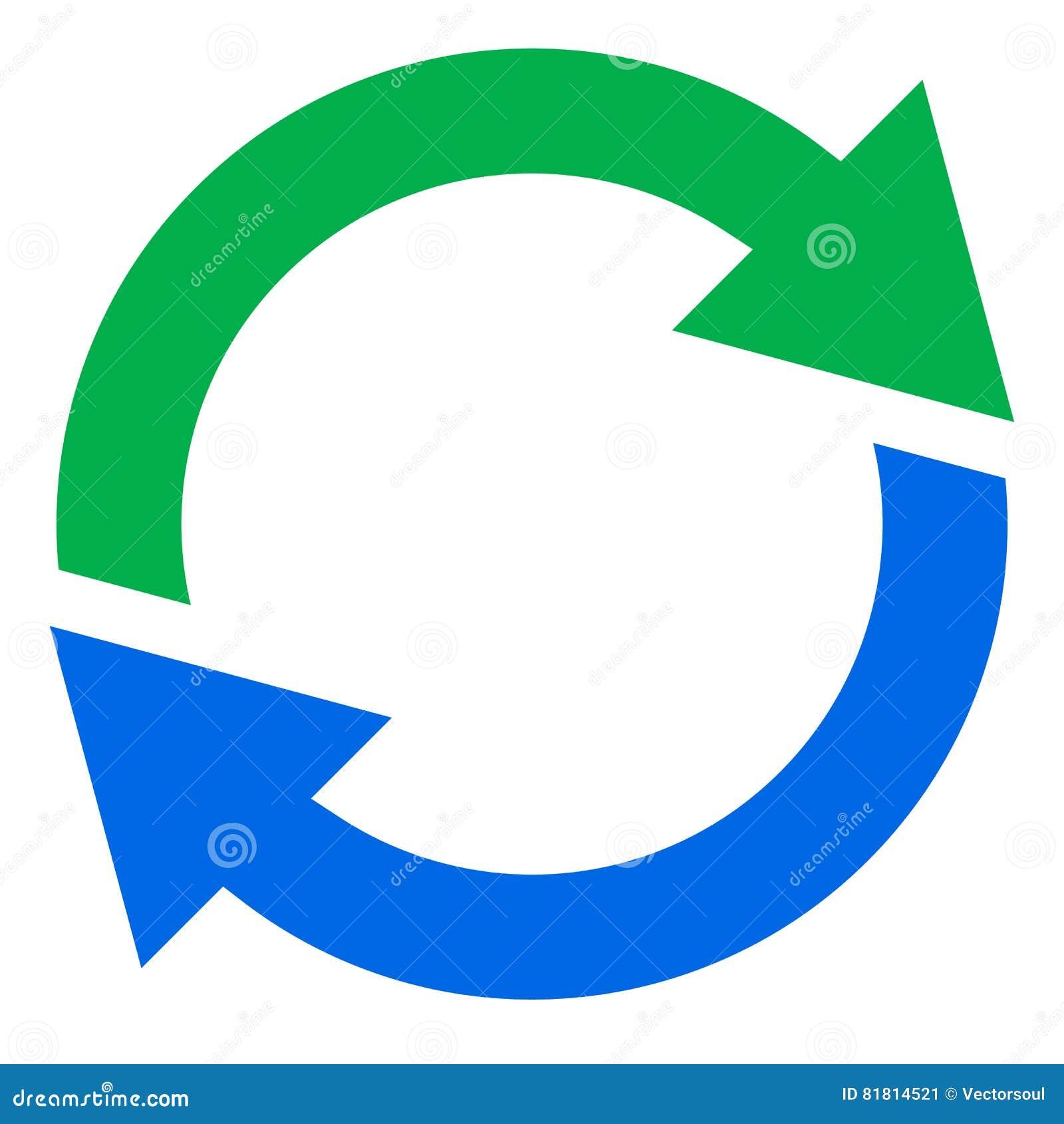 Круговая стрелка, значок стрелки круга Вращение, рестарт, извив, tur