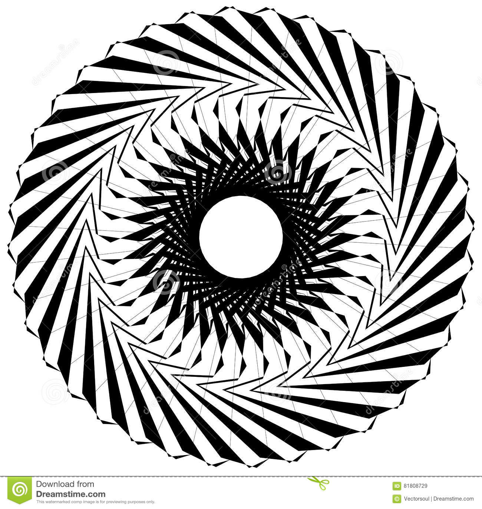 Круговой геометрический элемент Вращая формы, illu форм абстрактное