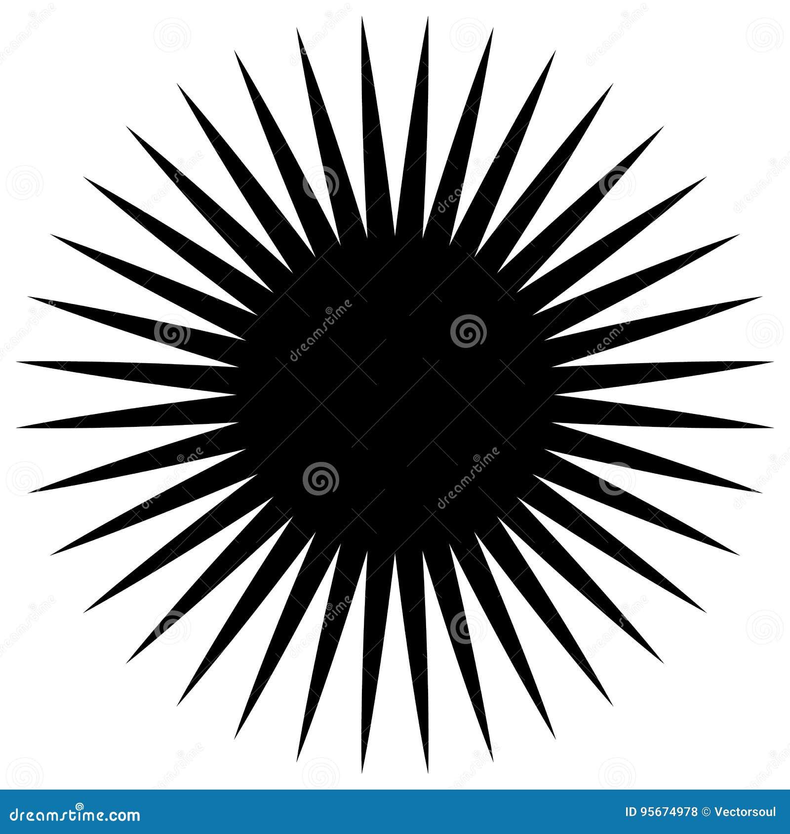 Круговой геометрический элемент радиальных спиц, линий Абстрактное bla