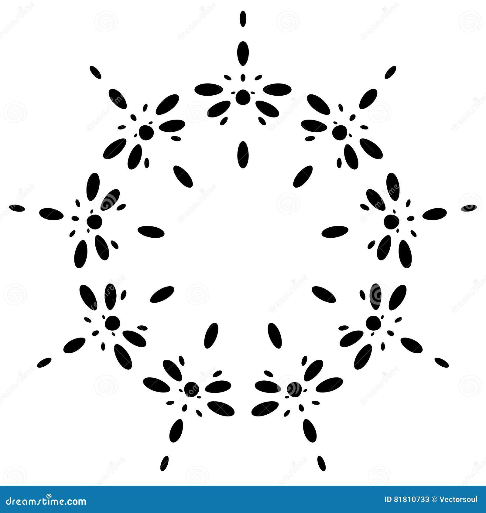 Круговой дизайн с эффектом искажения Абстрактное monochrome elem