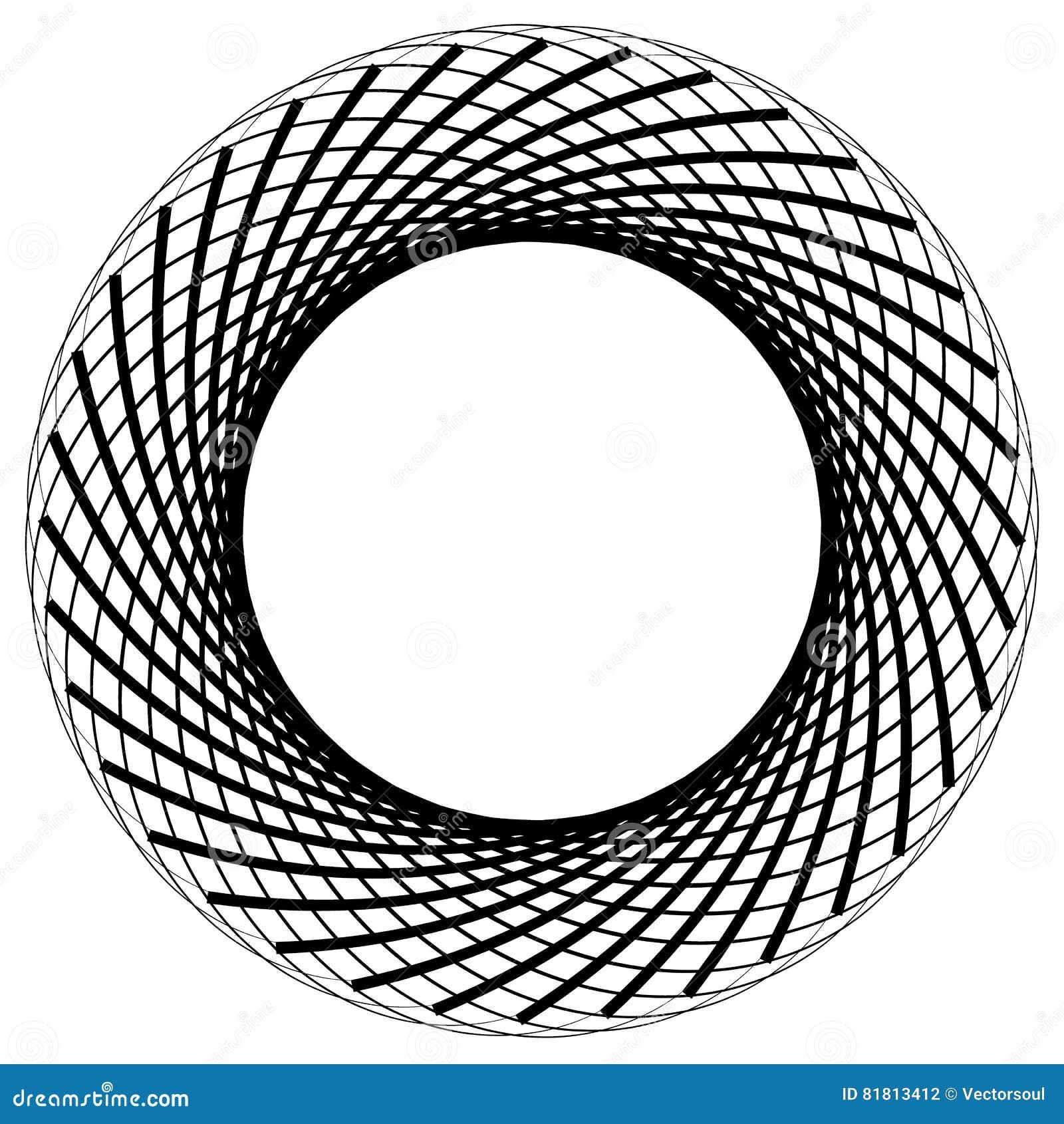 Круговой элемент сделанный радиальных линий абстрактная геометрическая форма