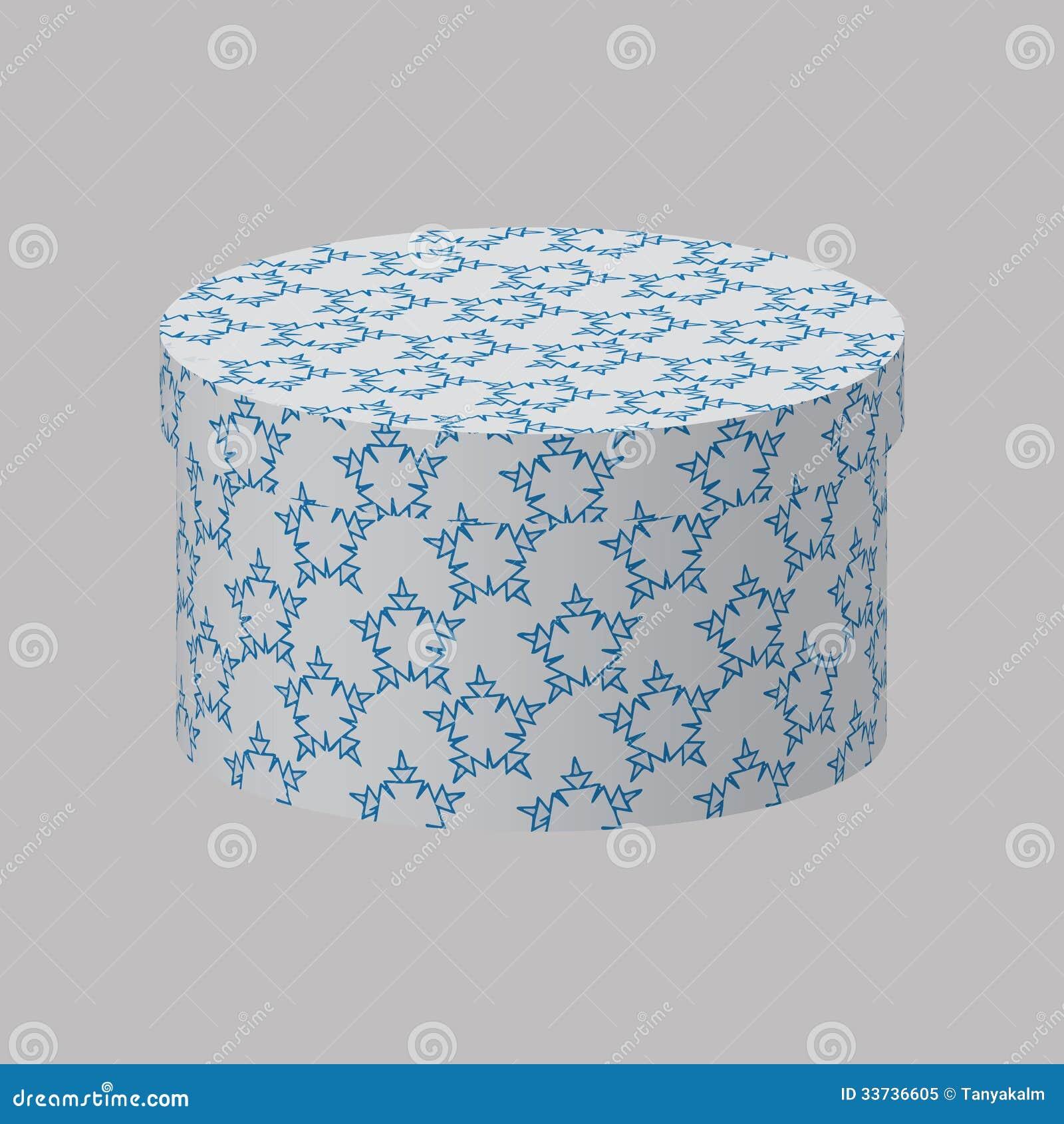 Круглая коробка