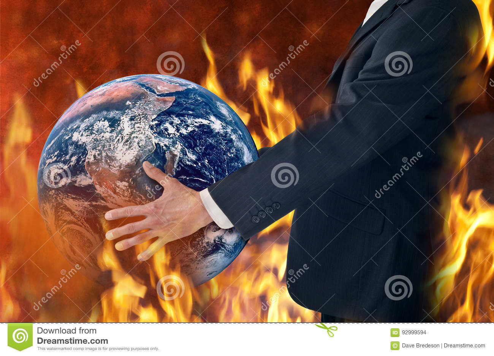 Крупный бизнес земли изменения климата