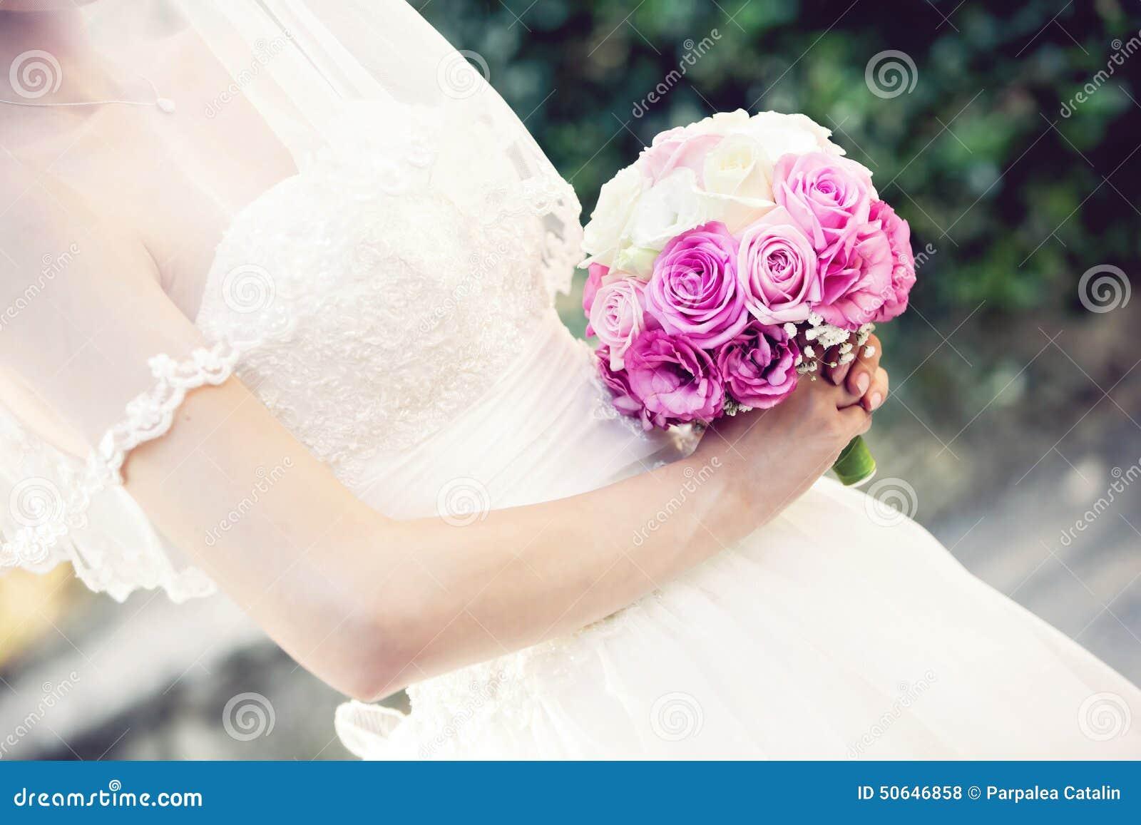 Крупный план букета свадьбы