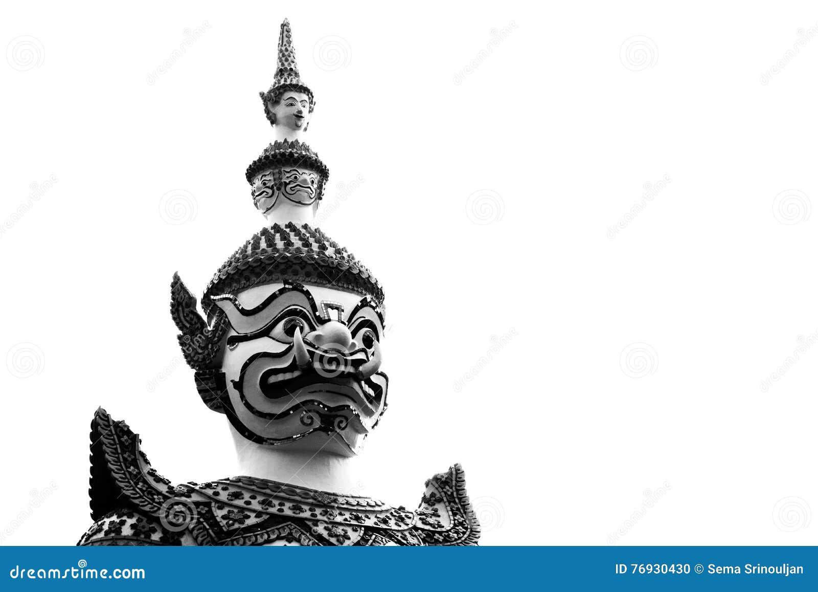 Крупный план гигант на arun Wat в Bkk, Таиланде