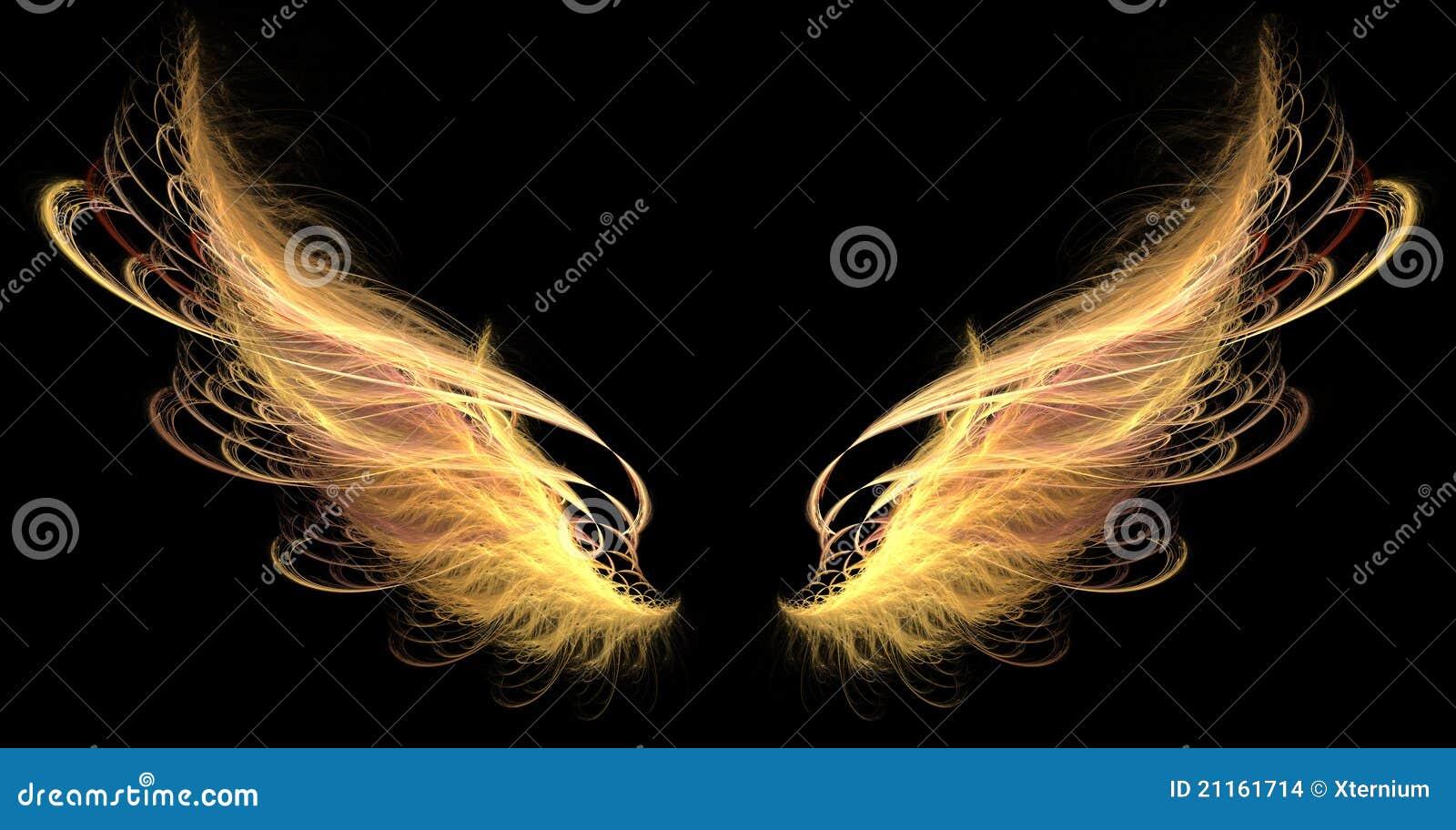 крыла пожара демона