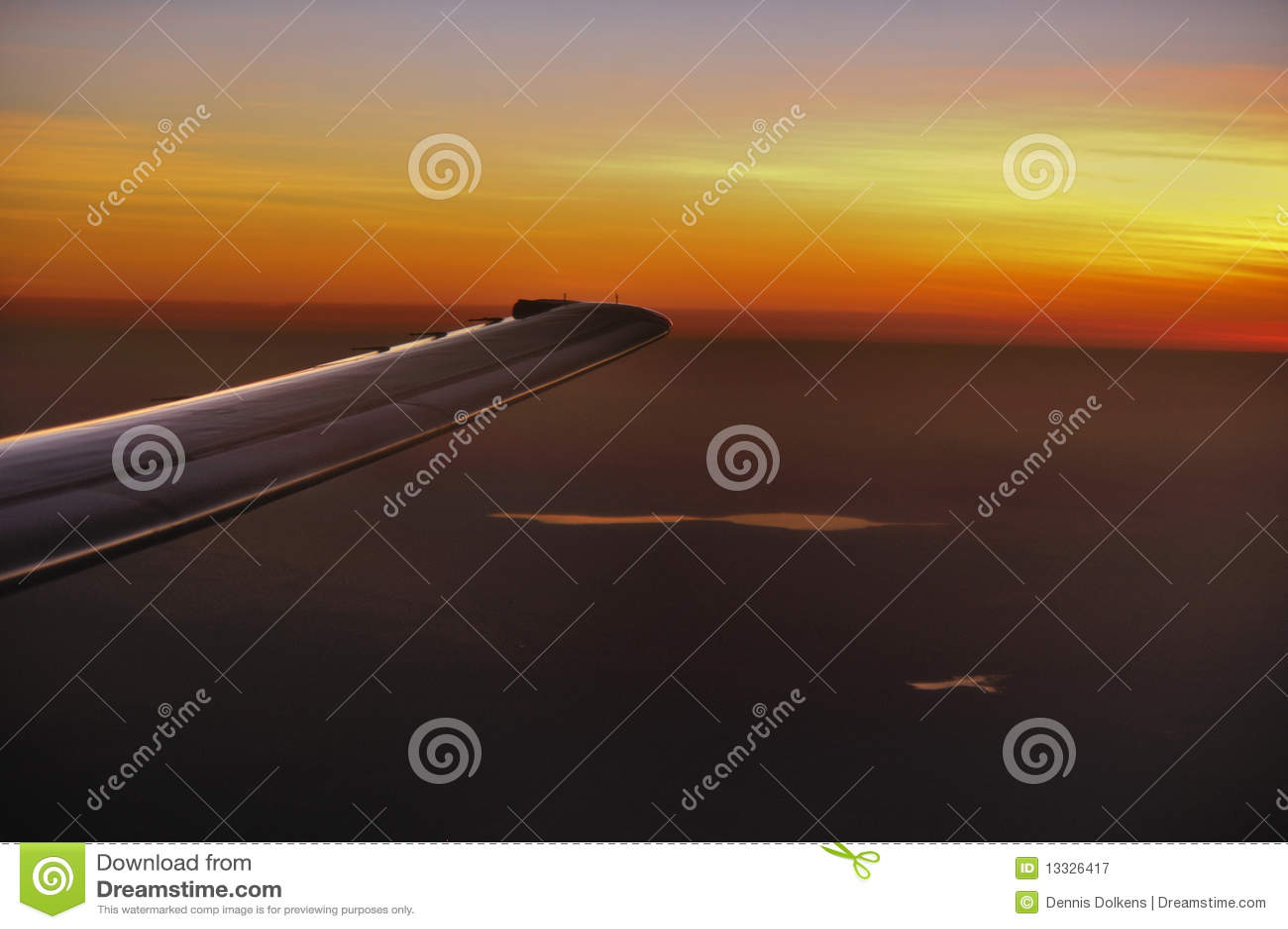 крыло захода солнца воздушных судн