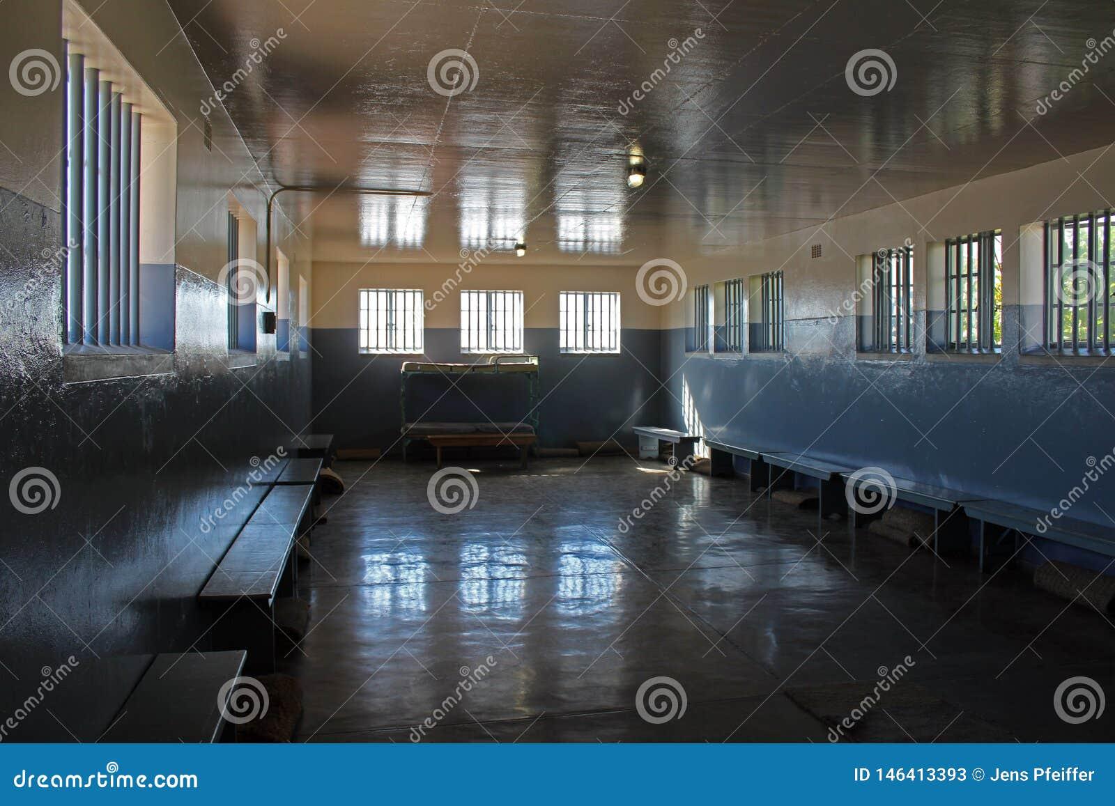 Крыло тюрьмы Нельсон Mandel, остров Robben, Кейптаун, Южная Африка
