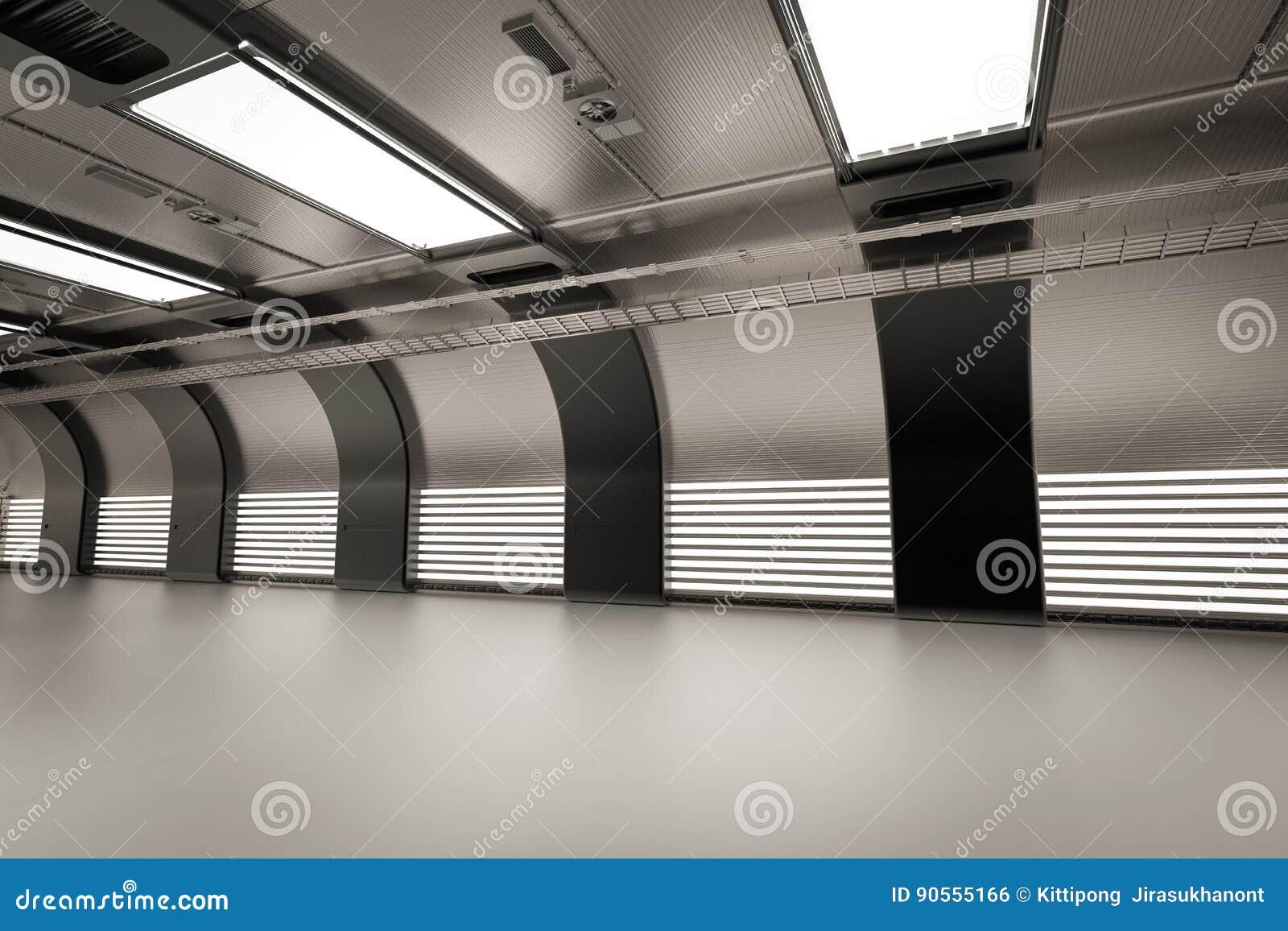 Крытая пустая фабрика