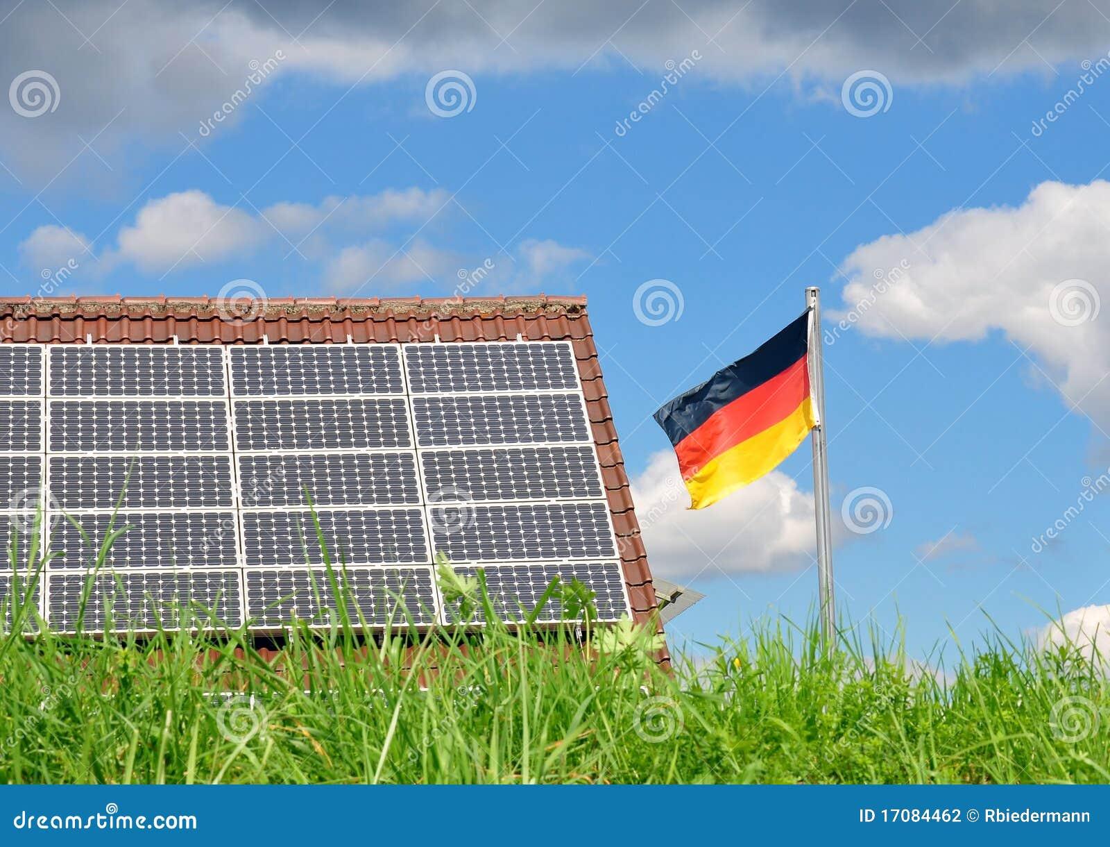 крыша панелей флага немецкая солнечная