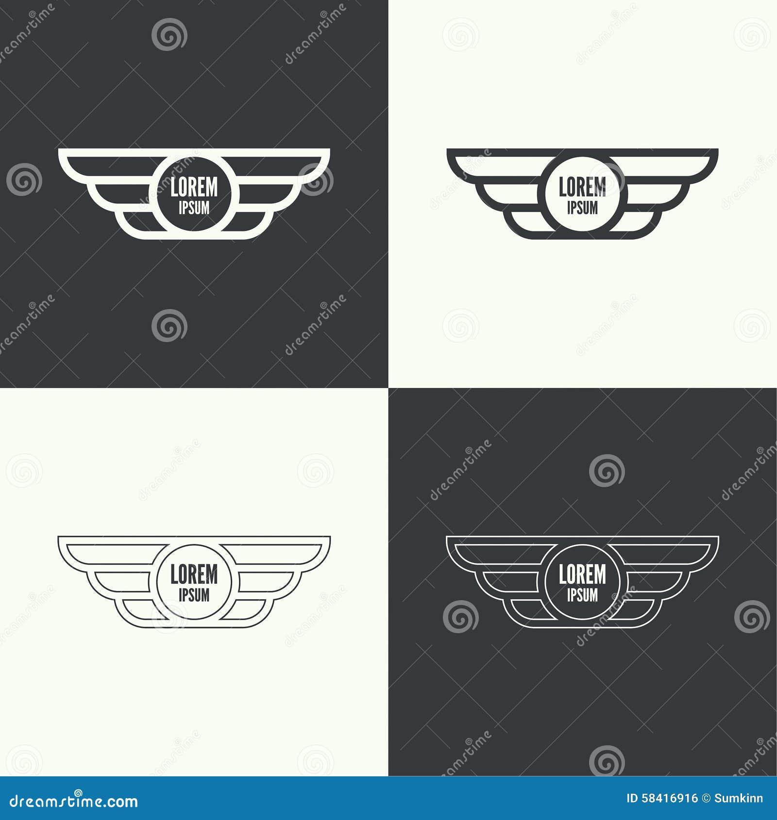 крыла вектора иллюстрации значка